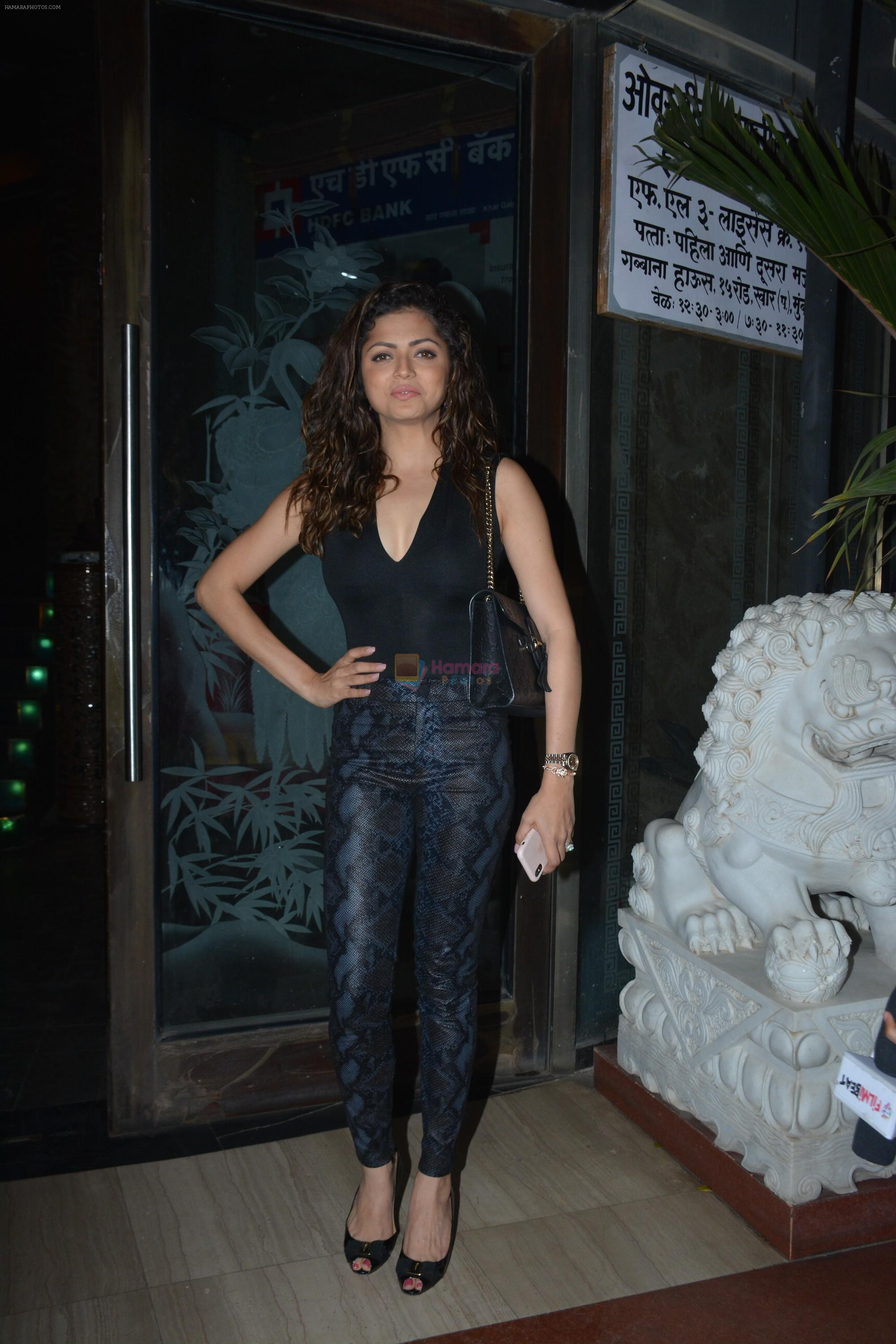 Drashti Dhami at Rohit Reddy & Anita Hassanandani's party for the launch of thier new single Teri Yaad at bandra on 8th Feb 2019
