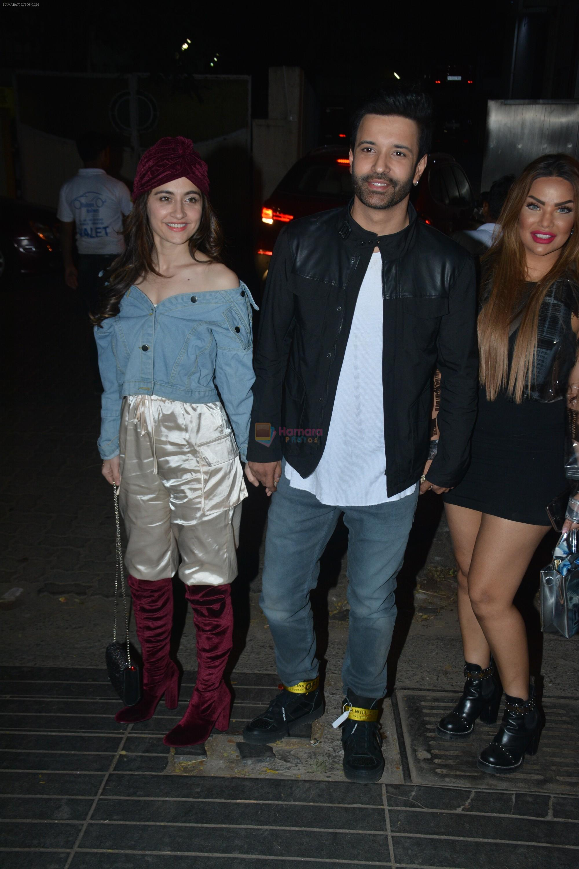 Sanjeeda Sheikh, Aamir Ali at Rohit Reddy & Anita Hassanandani's party for the launch of thier new single Teri Yaad at bandra on 8th Feb 2019