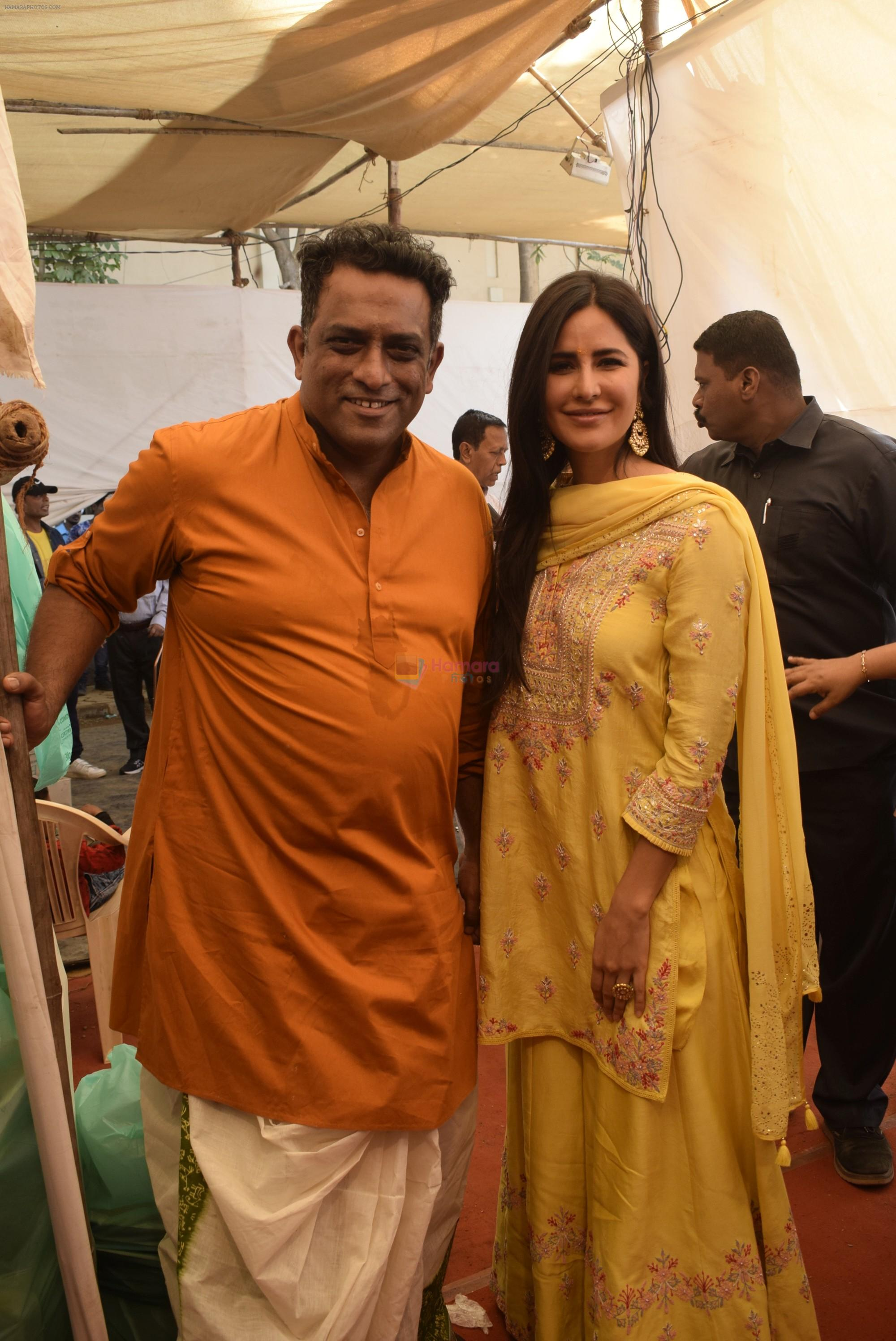 Katrina Kaif at Saraswati pujan at Anurag Basu's house in goregaon on 10th Feb 2019