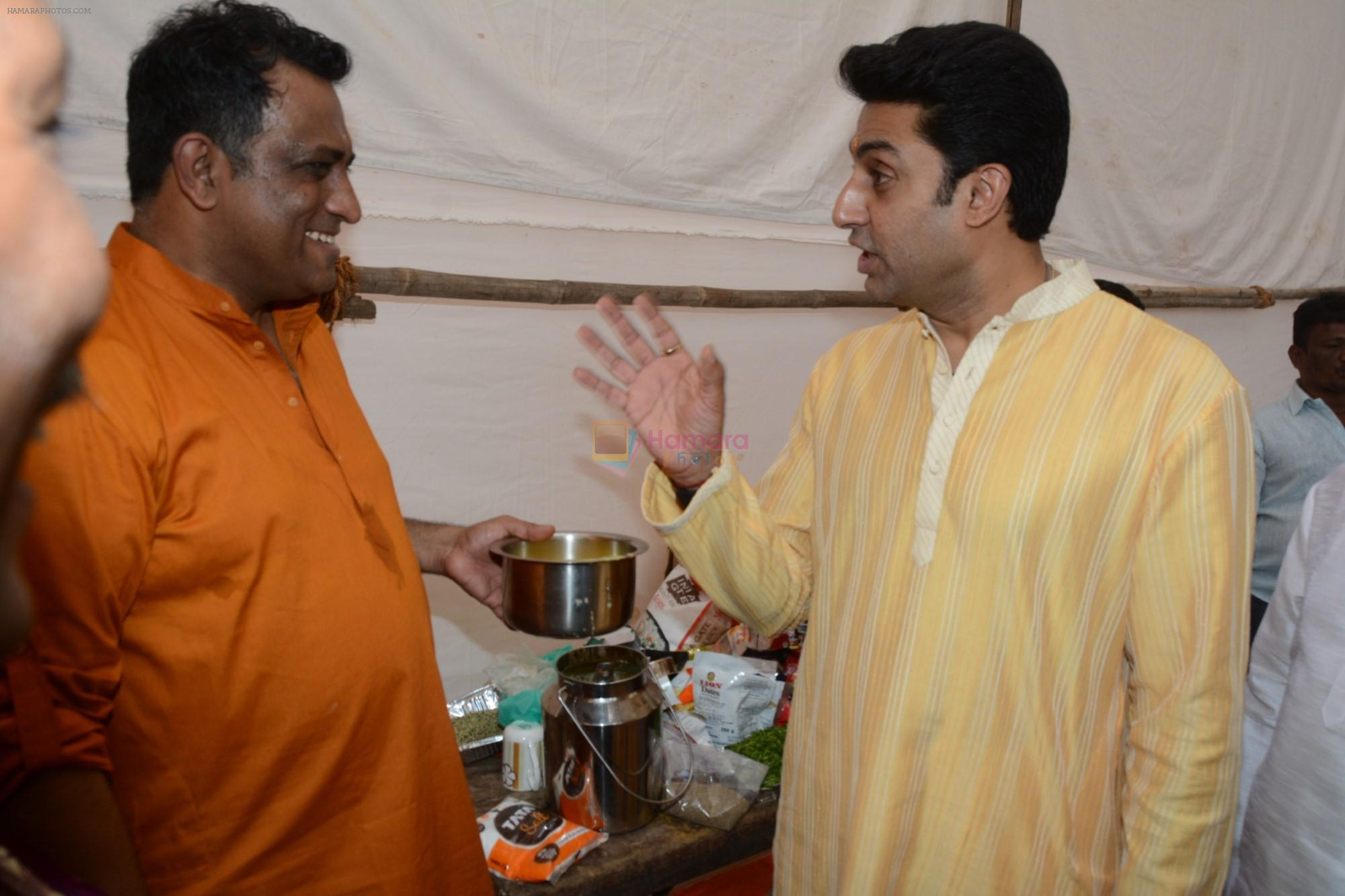 Abhishek Bachchan at Saraswati pujan at Anurag Basu's house in goregaon on 10th Feb 2019