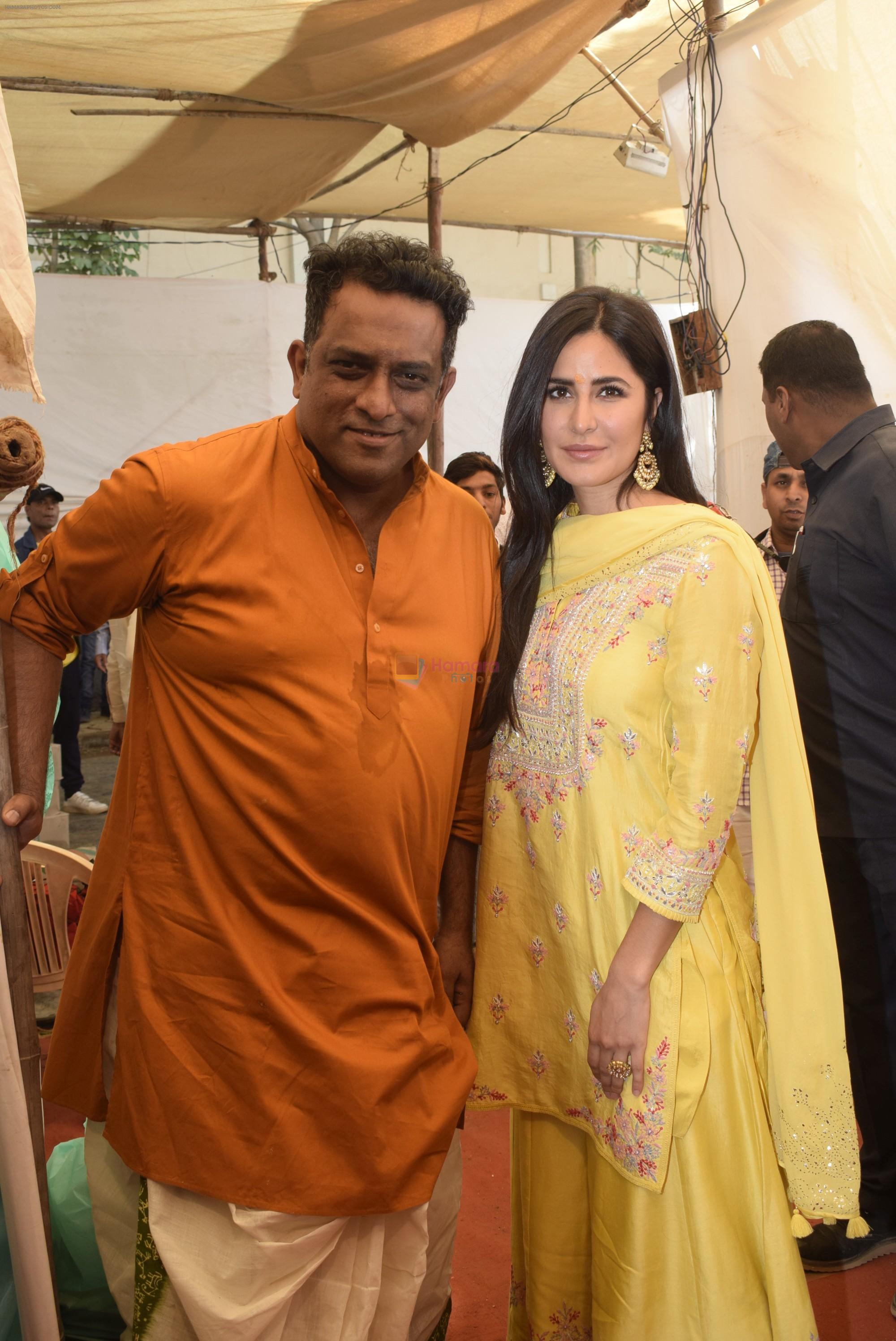 Katrina Kaif at Saraswati pujan at Anurag Basu's house in ...