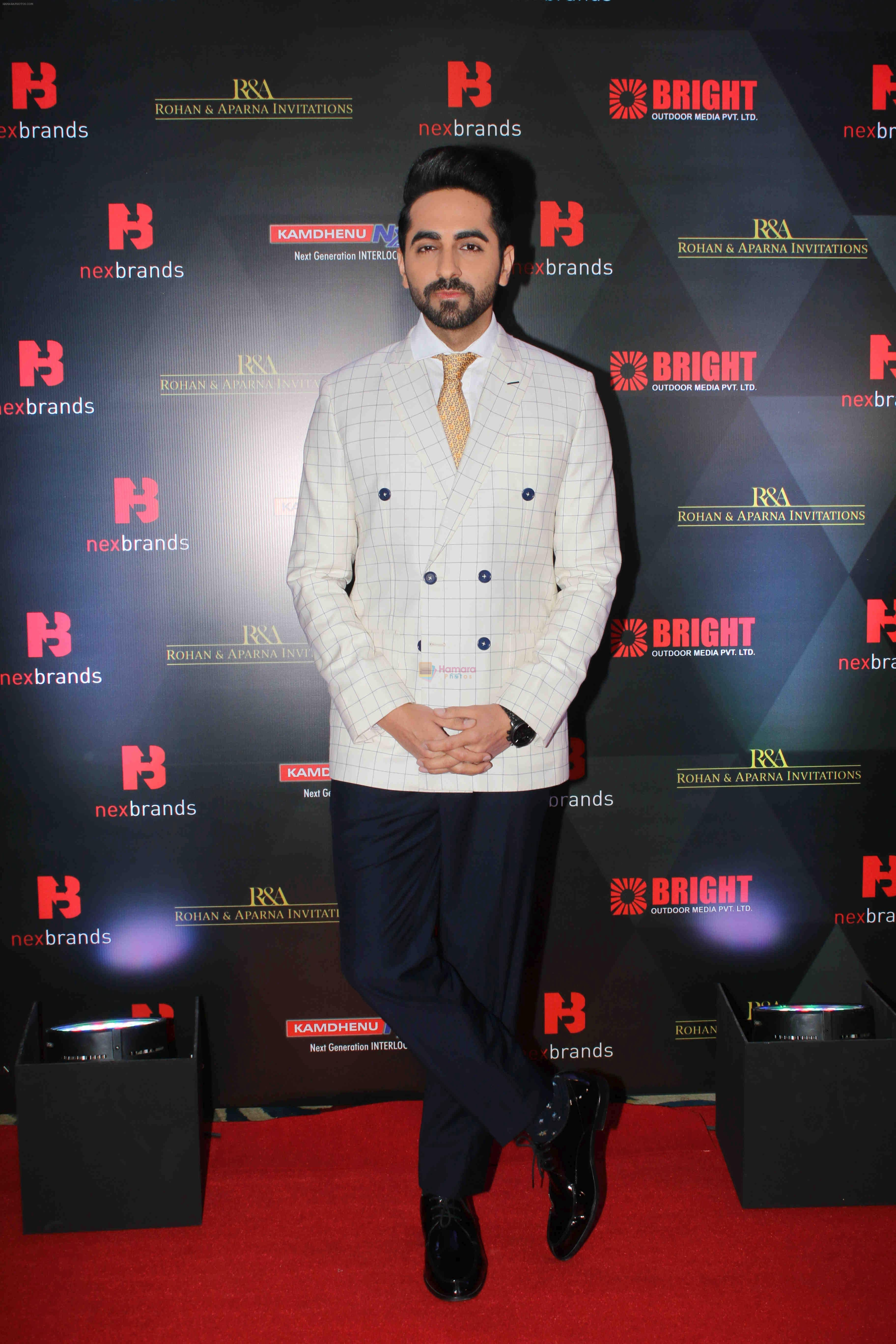 Ayushmann Khurrana at the 4th Edition of Annual Brand Vision Awards 2019 on 13th Feb 2019