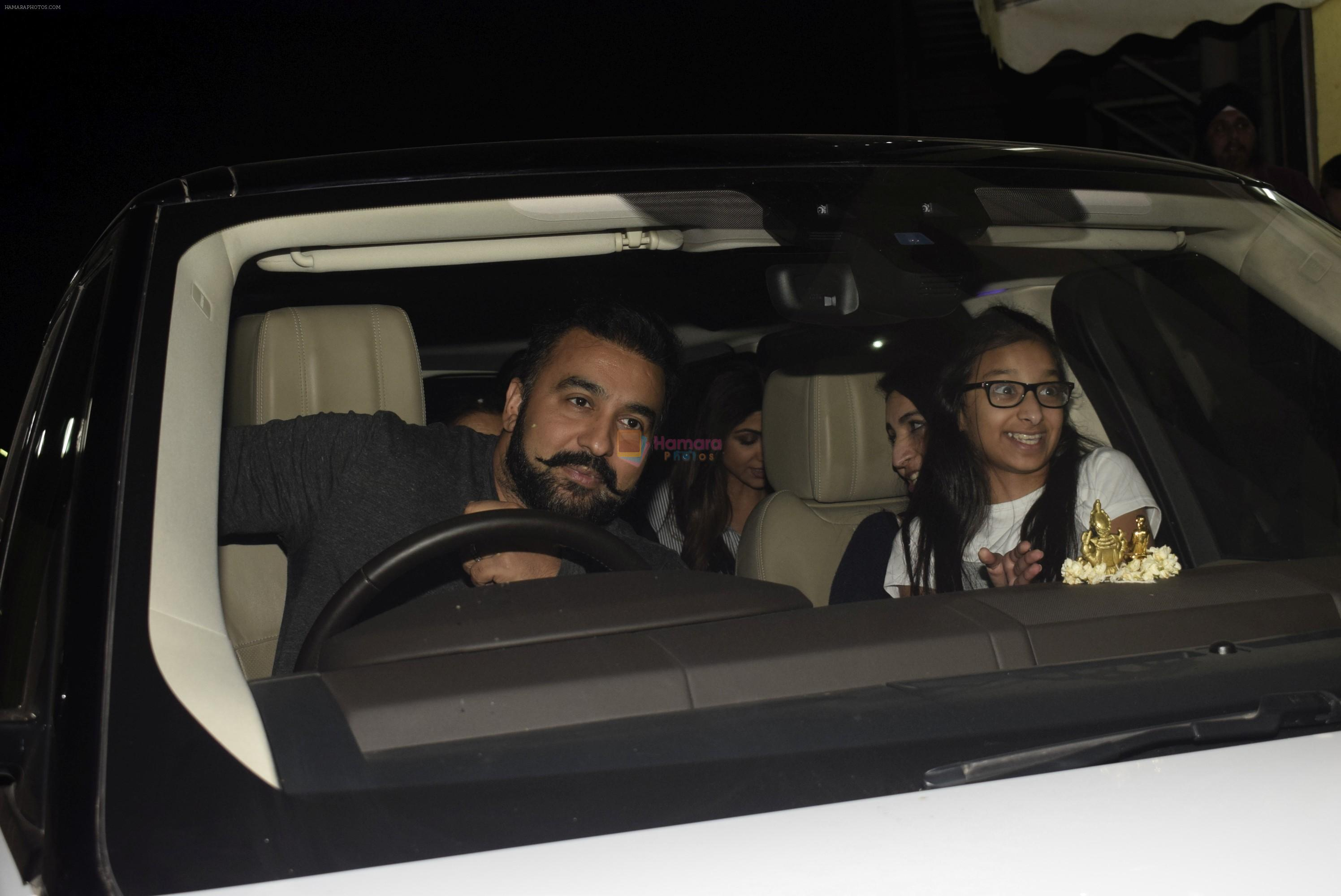 Raj Kundra, Shilpa Shetty spotted with family at pvr juhu on
