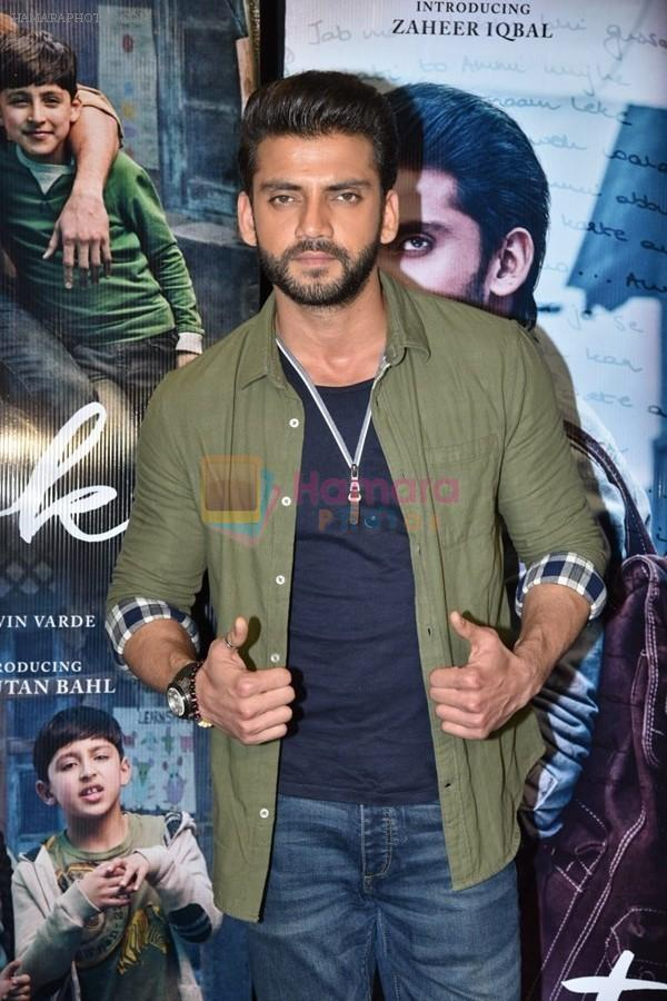Zaheer Iqbal at trailer preview of Notebook on 21st Feb 2019