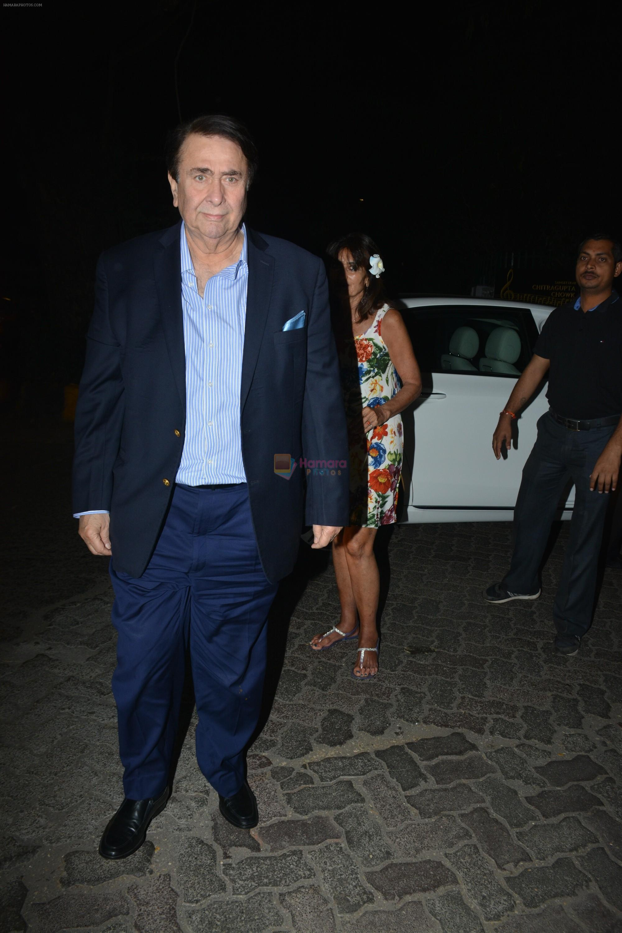Randhir Kapoor spotted at ministry of crabs at bandra on 23rd Feb 2019