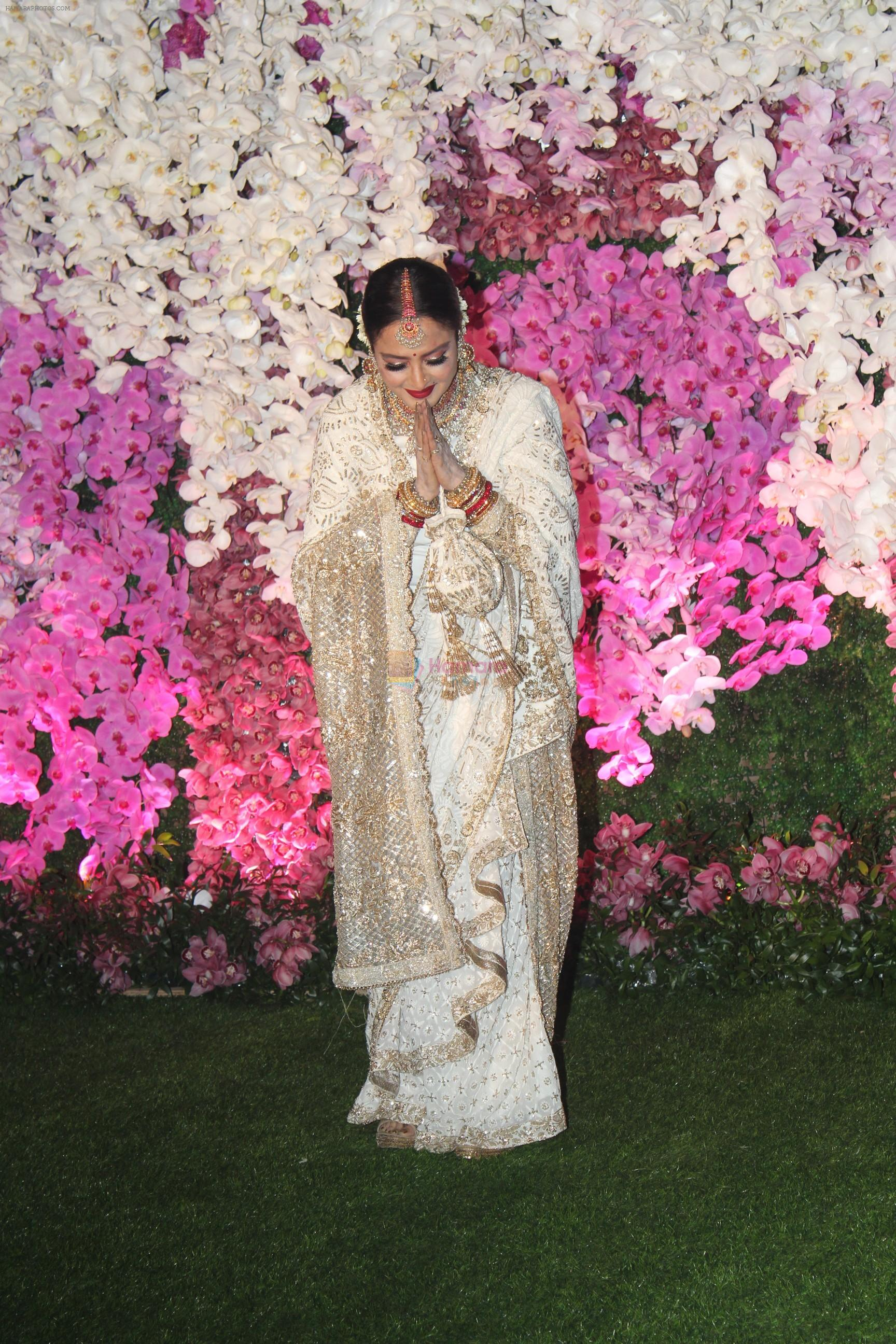Rekha at Akash Ambani & Shloka Mehta wedding in Jio World Centre bkc on 10th March 2019
