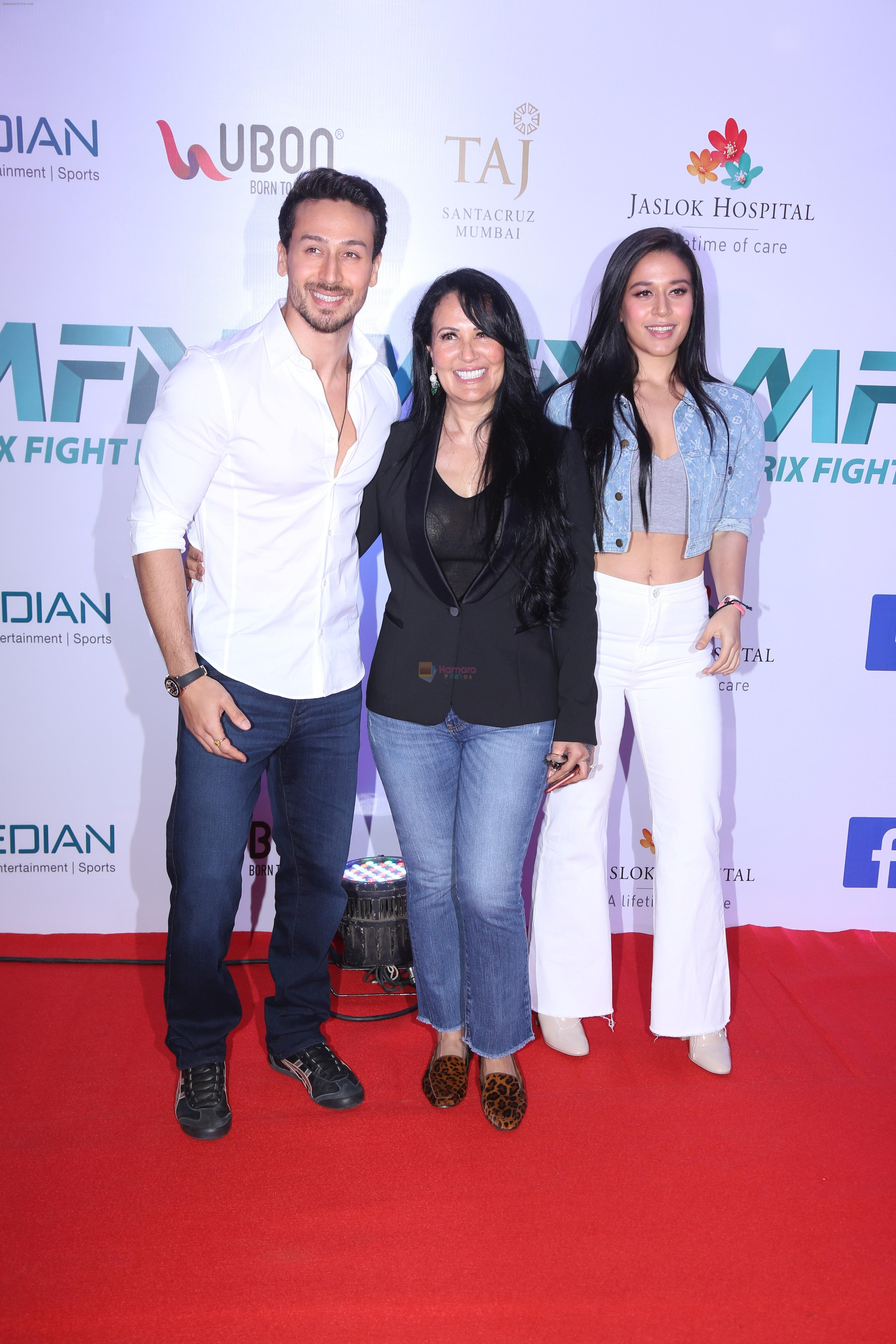 Tiger Shroff at the Launch of Matrix Fight Night by Tiger & Krishna Shroff at NSCI worli on 12th March 2019