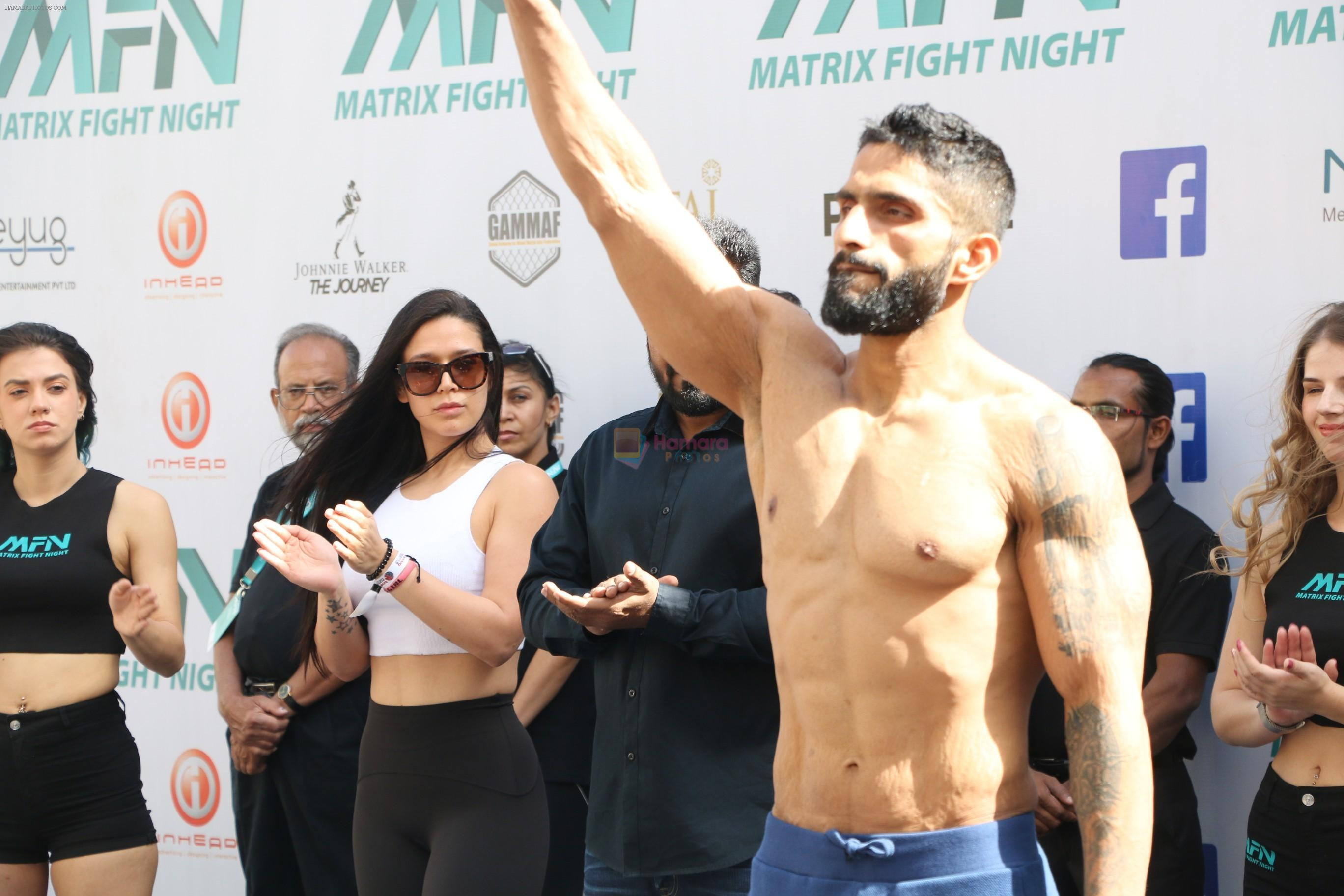 Krishna Shroff with the fighters of Matrix Fight Night at Taj Santacruz on 11th March 2019