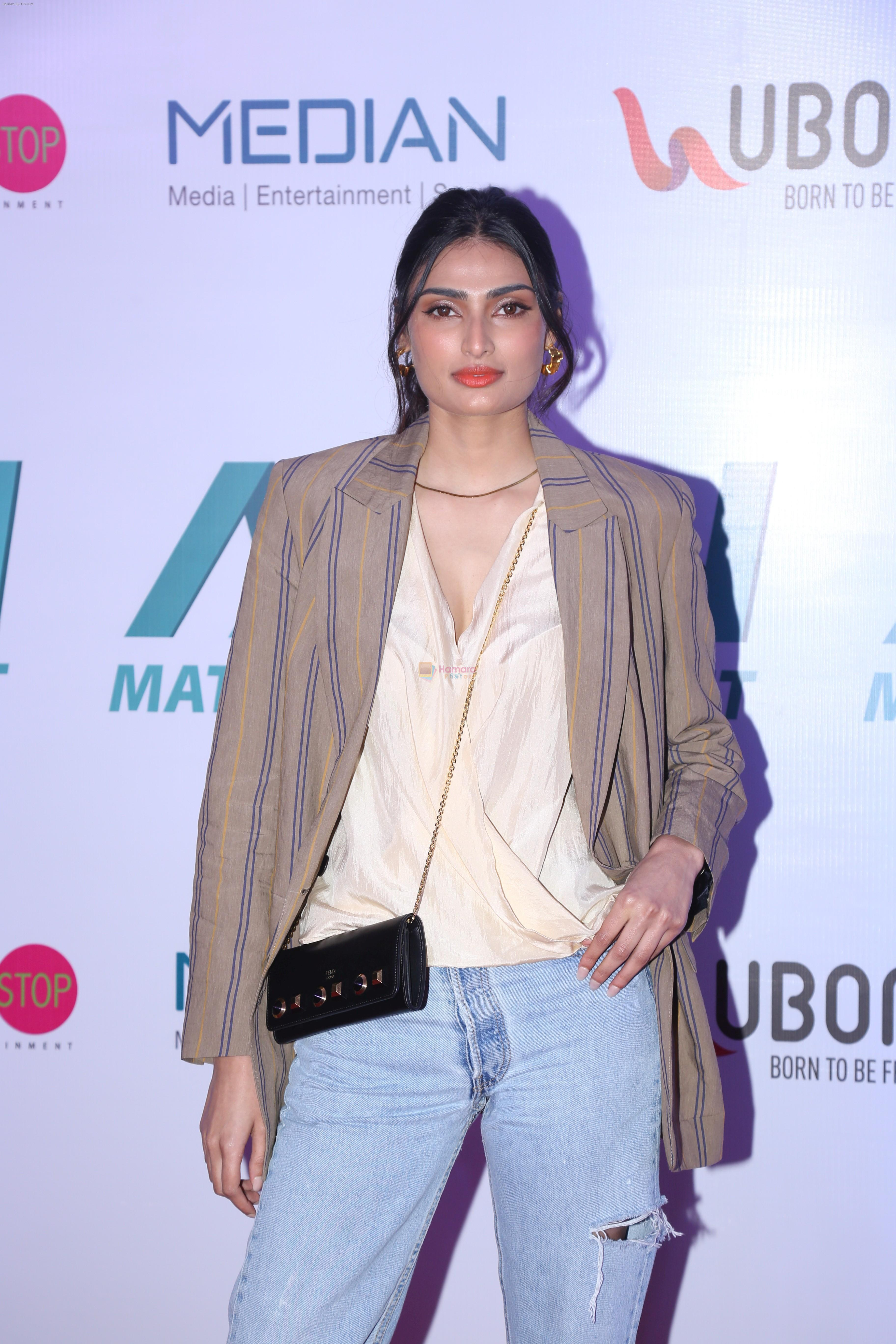 Athiya Shetty at the Launch of Matrix Fight Night by Tiger & Krishna Shroff at NSCI worli on 12th March 2019