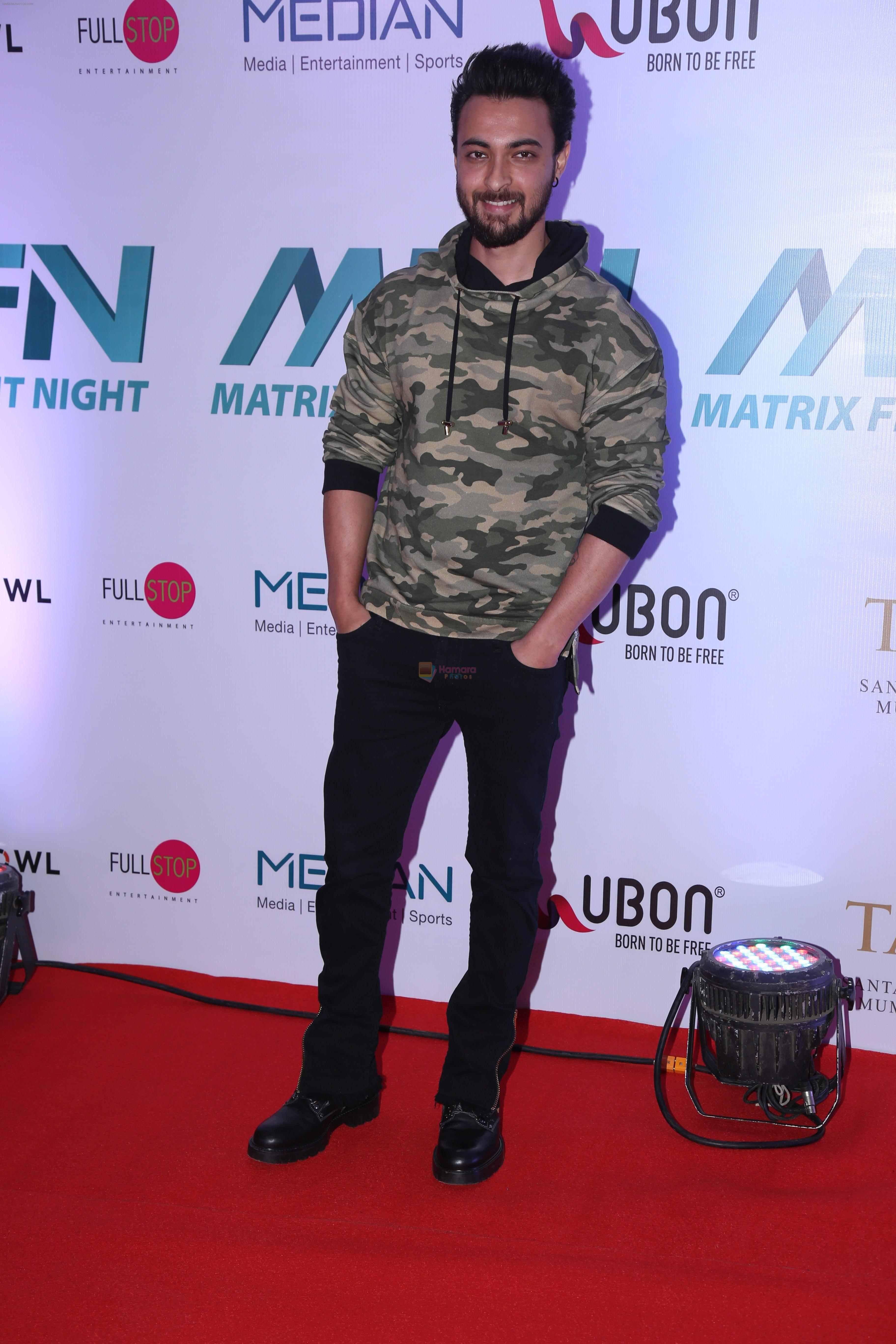 Aayush Sharma at the Launch of Matrix Fight Night by Tiger & Krishna Shroff at NSCI worli on 12th March 2019