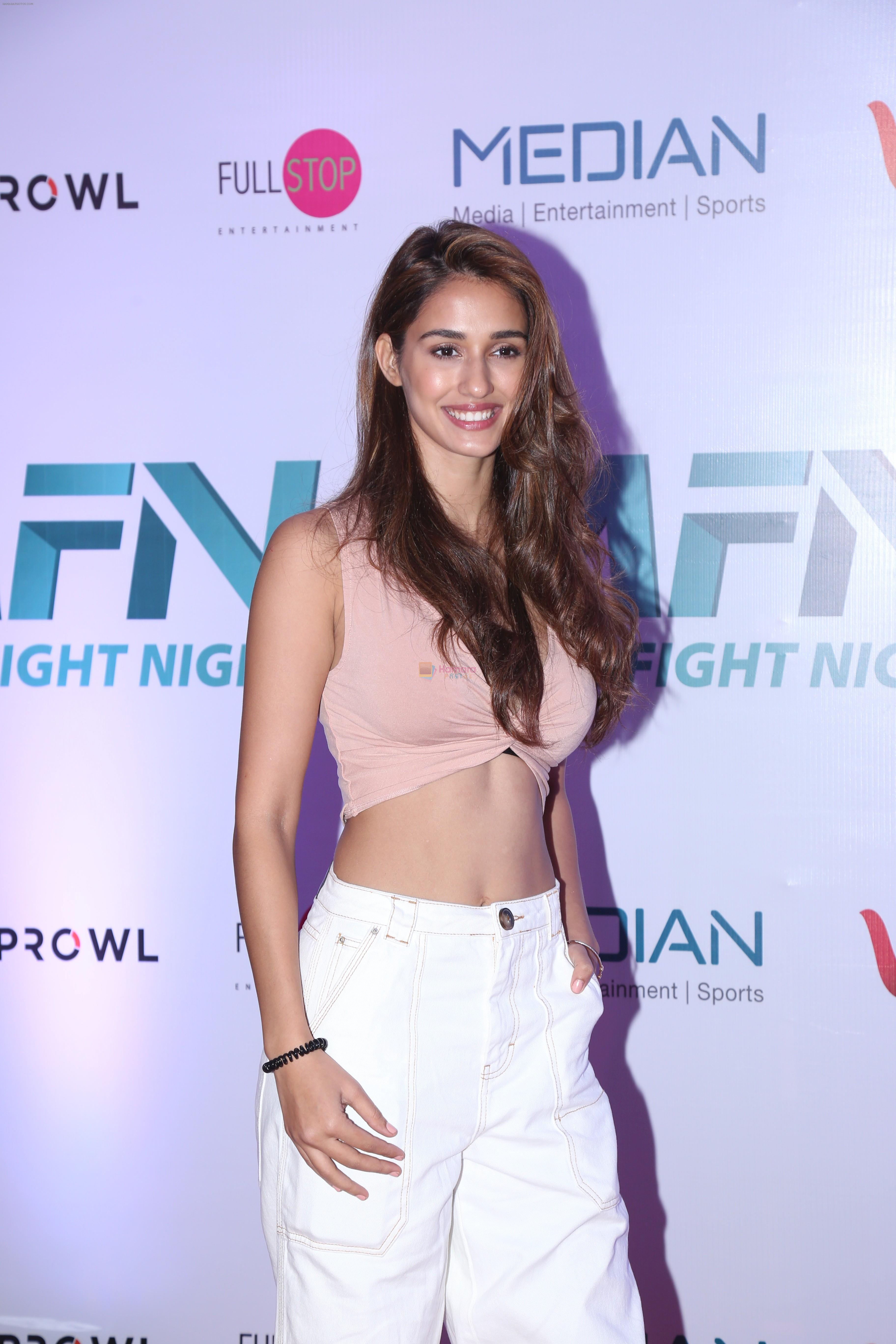 Disha Patani at the Launch of Matrix Fight Night by Tiger & Krishna Shroff at NSCI worli on 12th March 2019