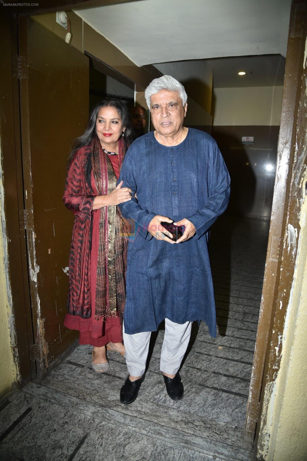 Shabana Azmi, Javed Akhtar at the Screening of movie photograph on 13th March 2019