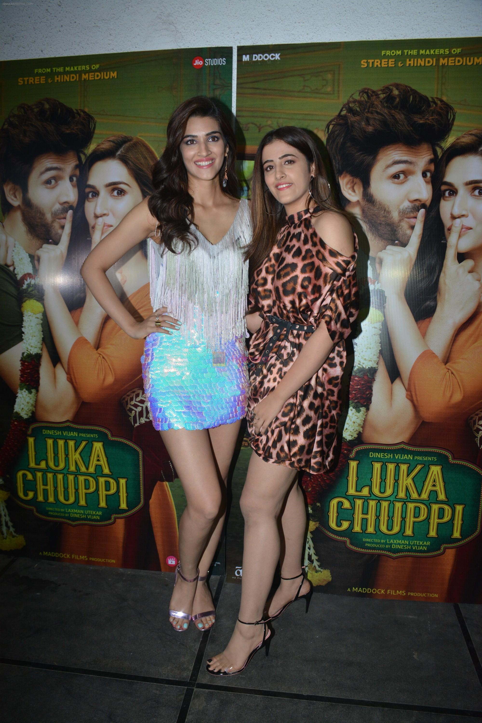 Kriti Sanon, Nupur Sanon at Luka Chuppi success party at Arth in khar on 12th March 2019