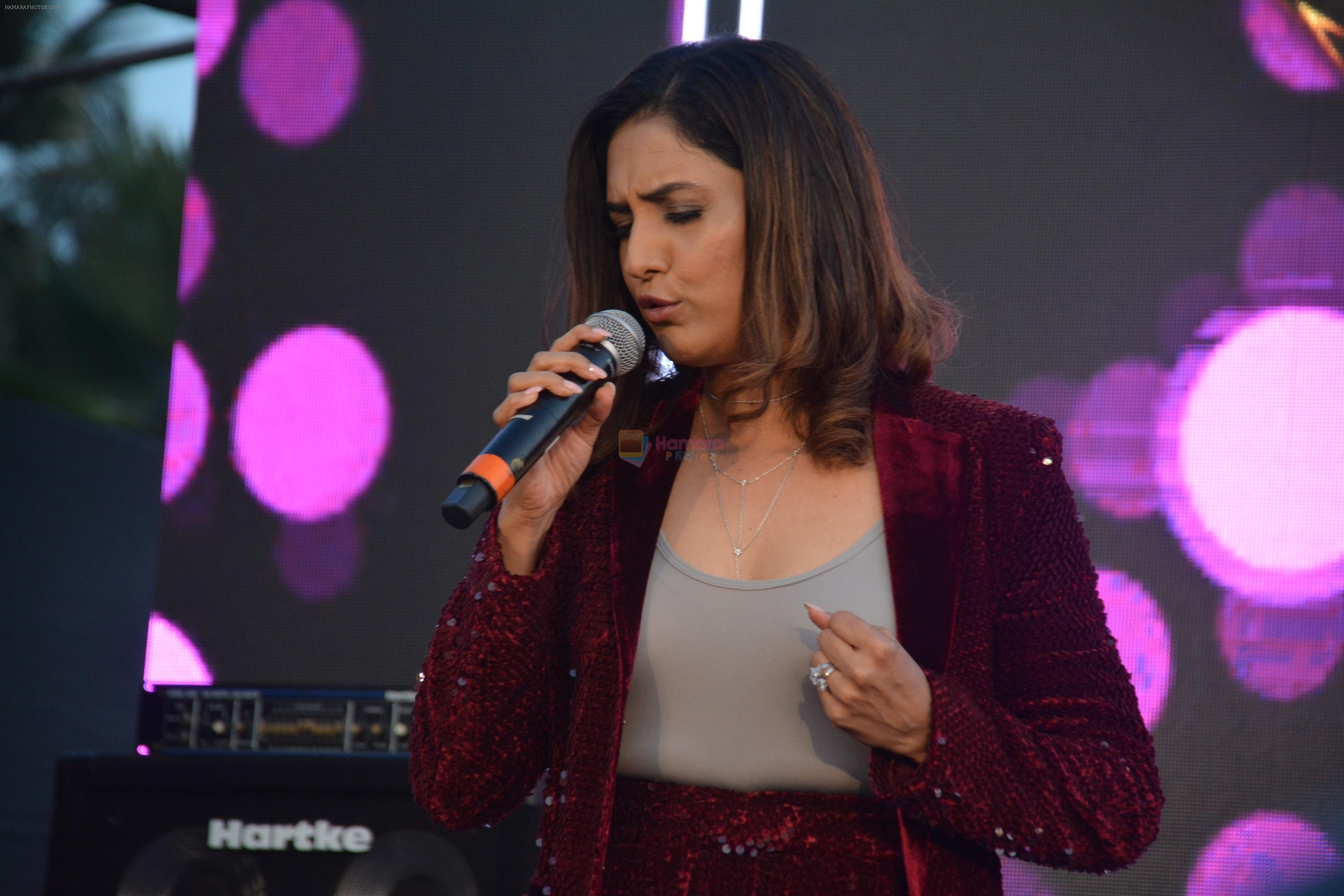 Neeti Mohan at the Launch of third season of Color's Rising Star at Carter Road bandra on 13th March 2019