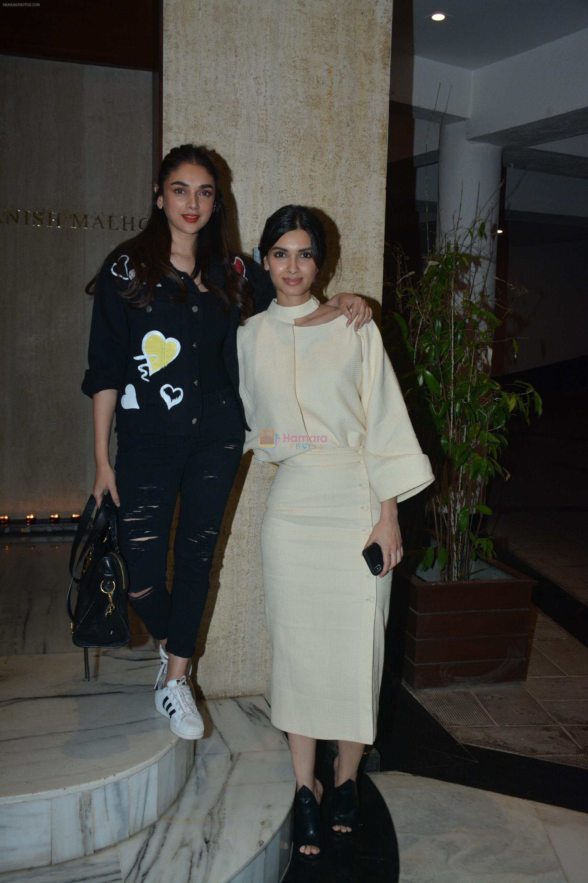 Diana Penty, Aditi Rao Hydari at Manish Malhotra's house on 13th March 2019