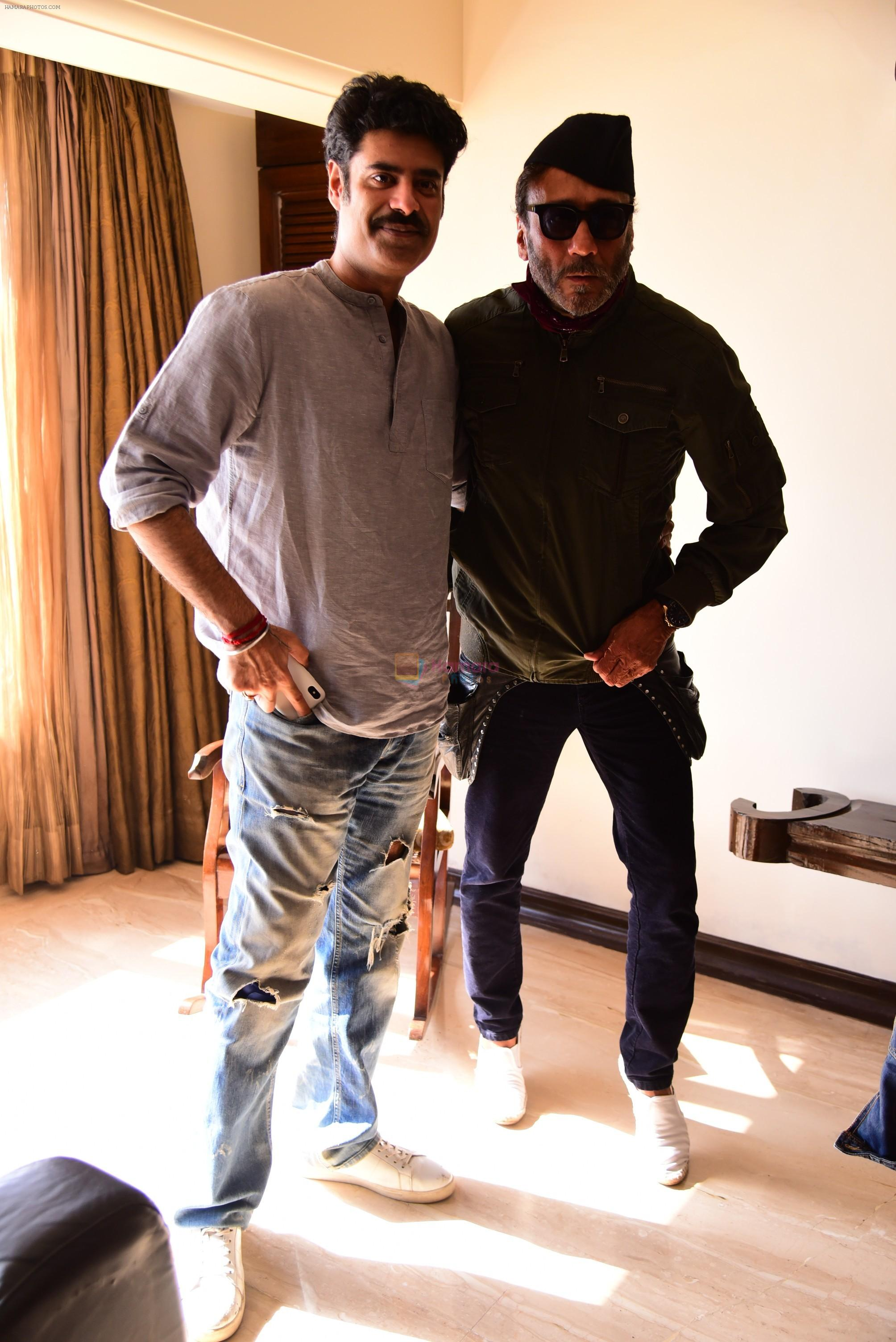 Jackie Shroff, Sikander Kher during the promotions of film Raw at Sun n Sand in juhu on 18th March 2019