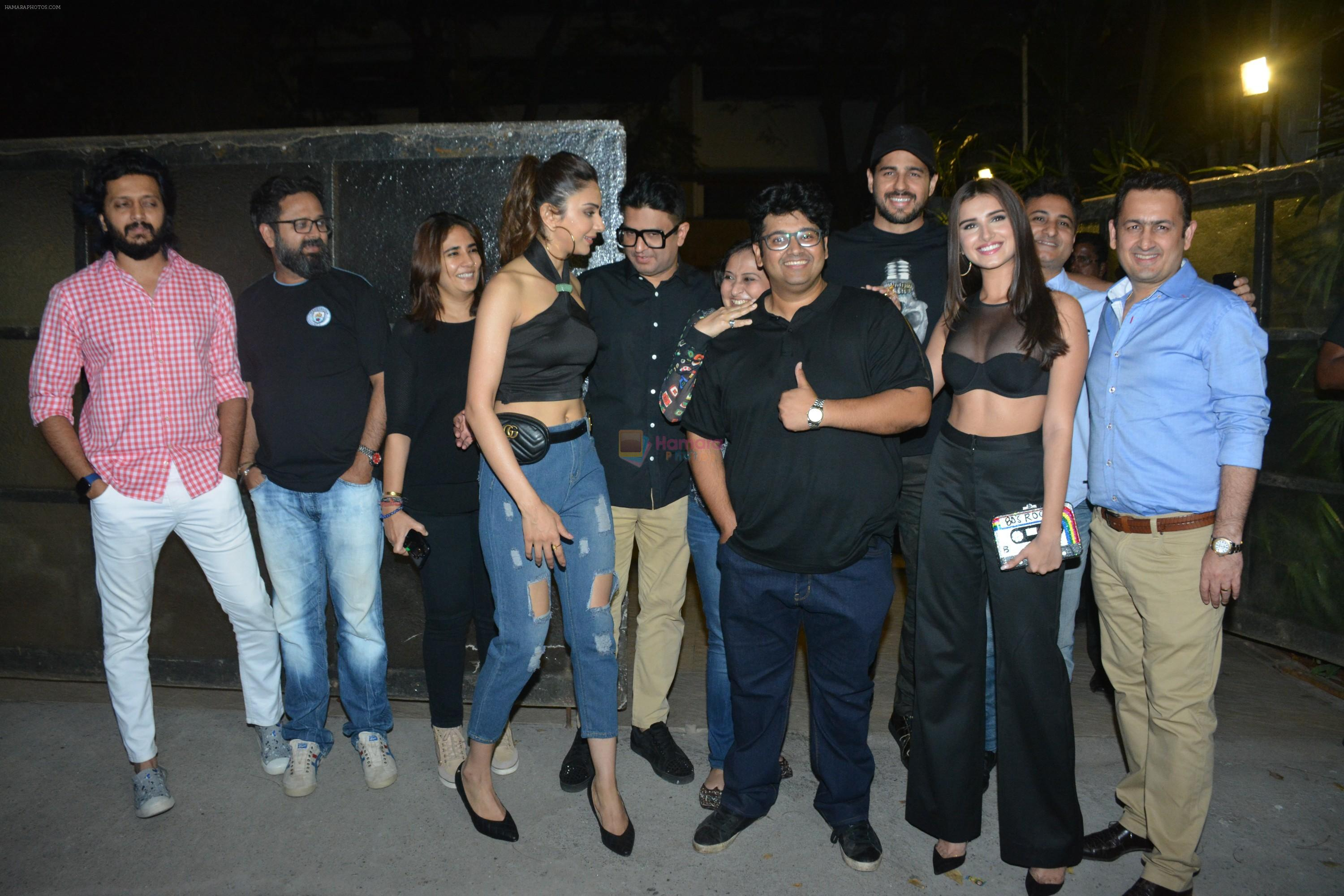 Rakul Preet Singh, Riteish Deshmukh, Tara Sutaria, Sidharth Malhotra at the Wrapup party of film Marjaavaan at Otters club in bandra on 18th March 2019