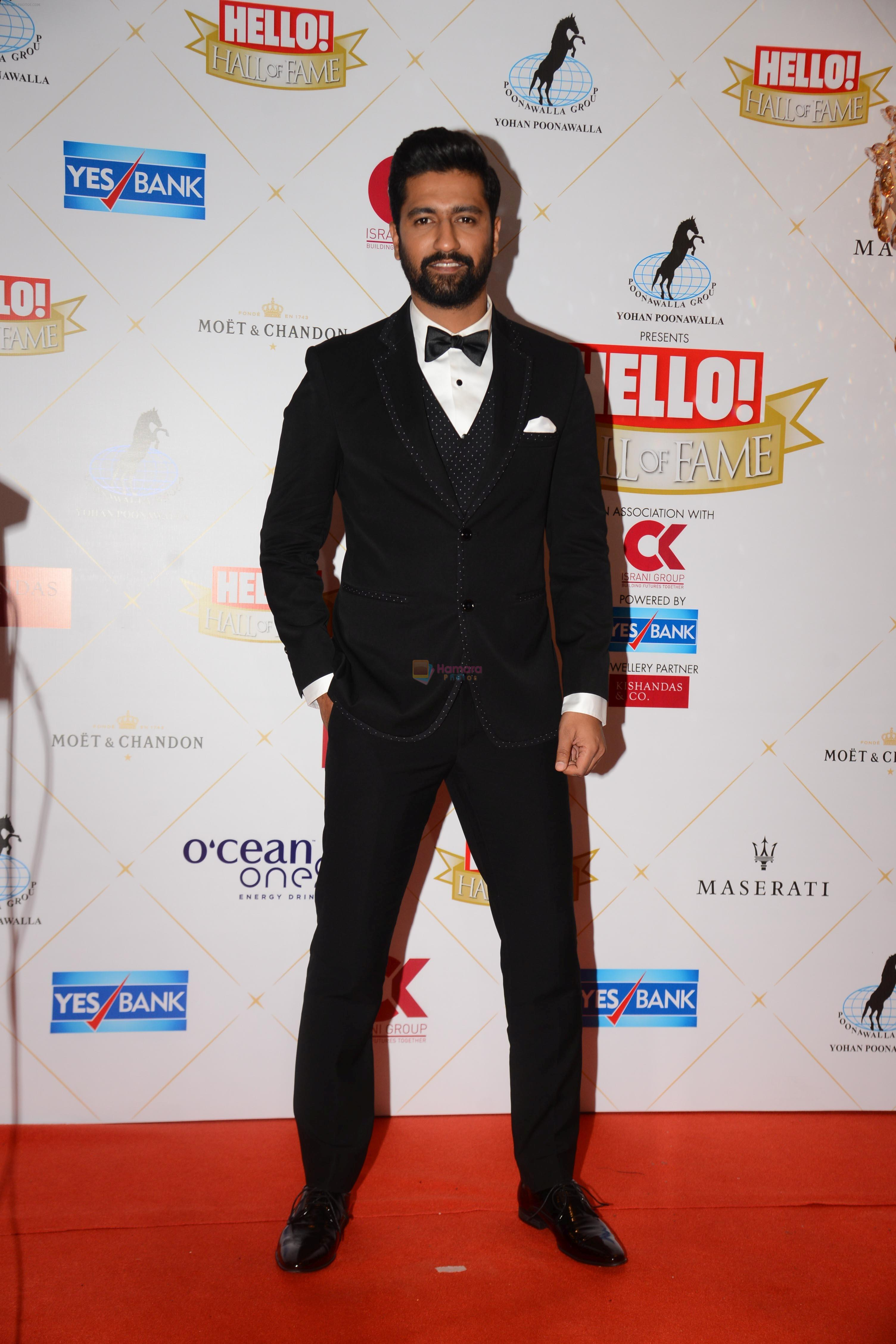 Vicky Kaushal at the Hello Hall of Fame Awards in St Regis hotel on 18th March 2019