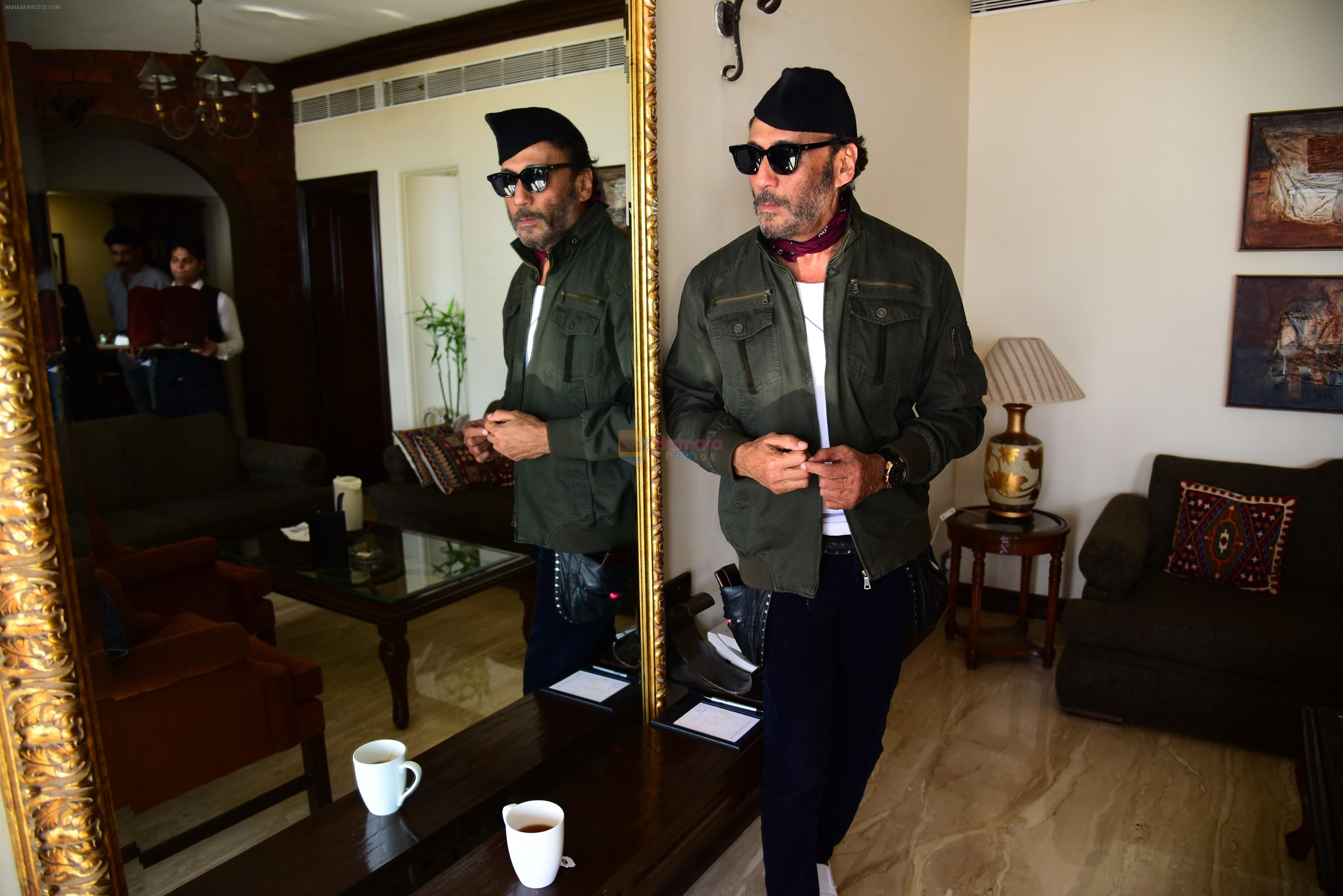 Jackie Shroff during the promotions of film Raw at Sun n Sand in juhu on 18th March 2019