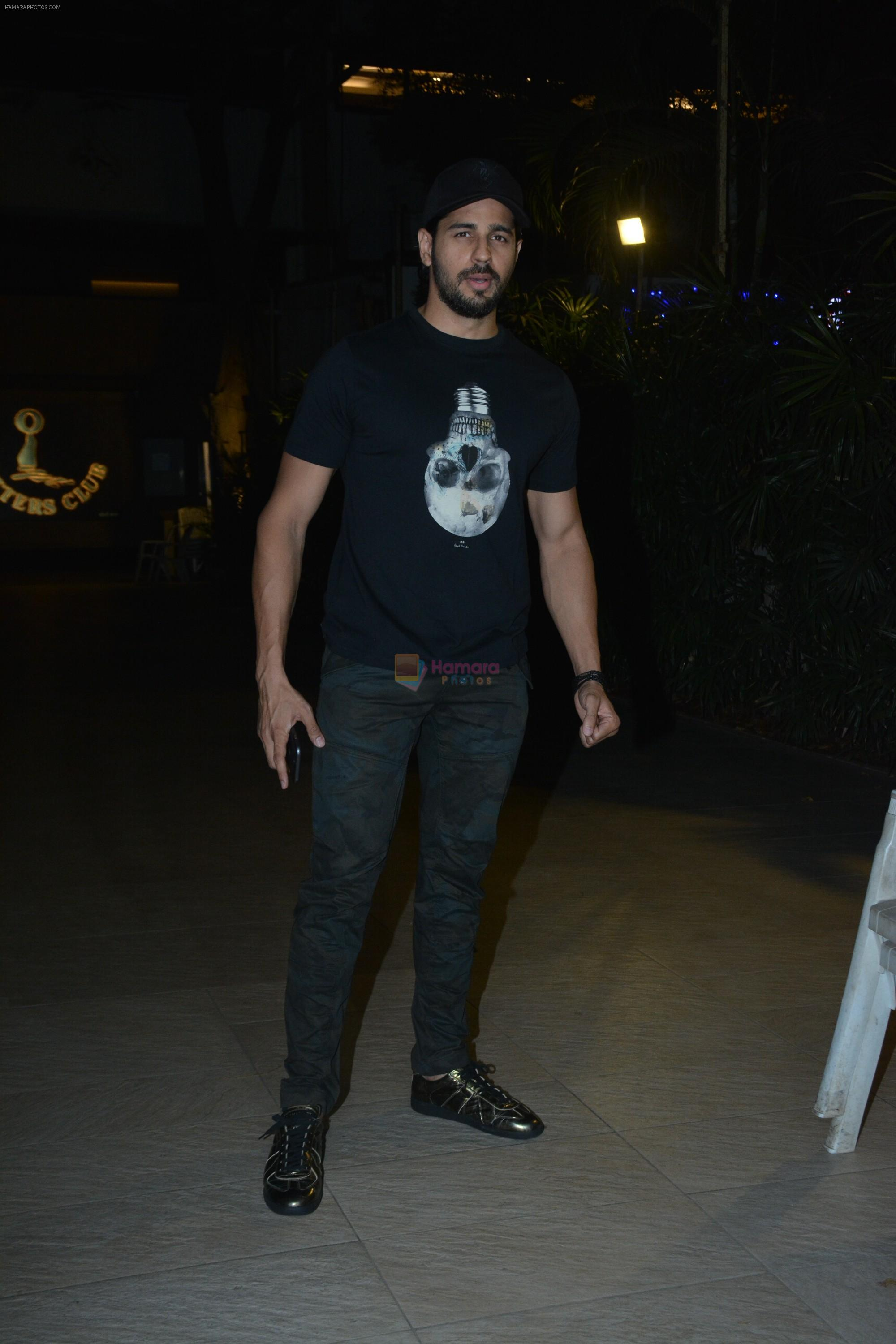 Sidharth Malhotra at the Wrapup party of film Marjaavaan at Otters club in bandra on 18th March 2019