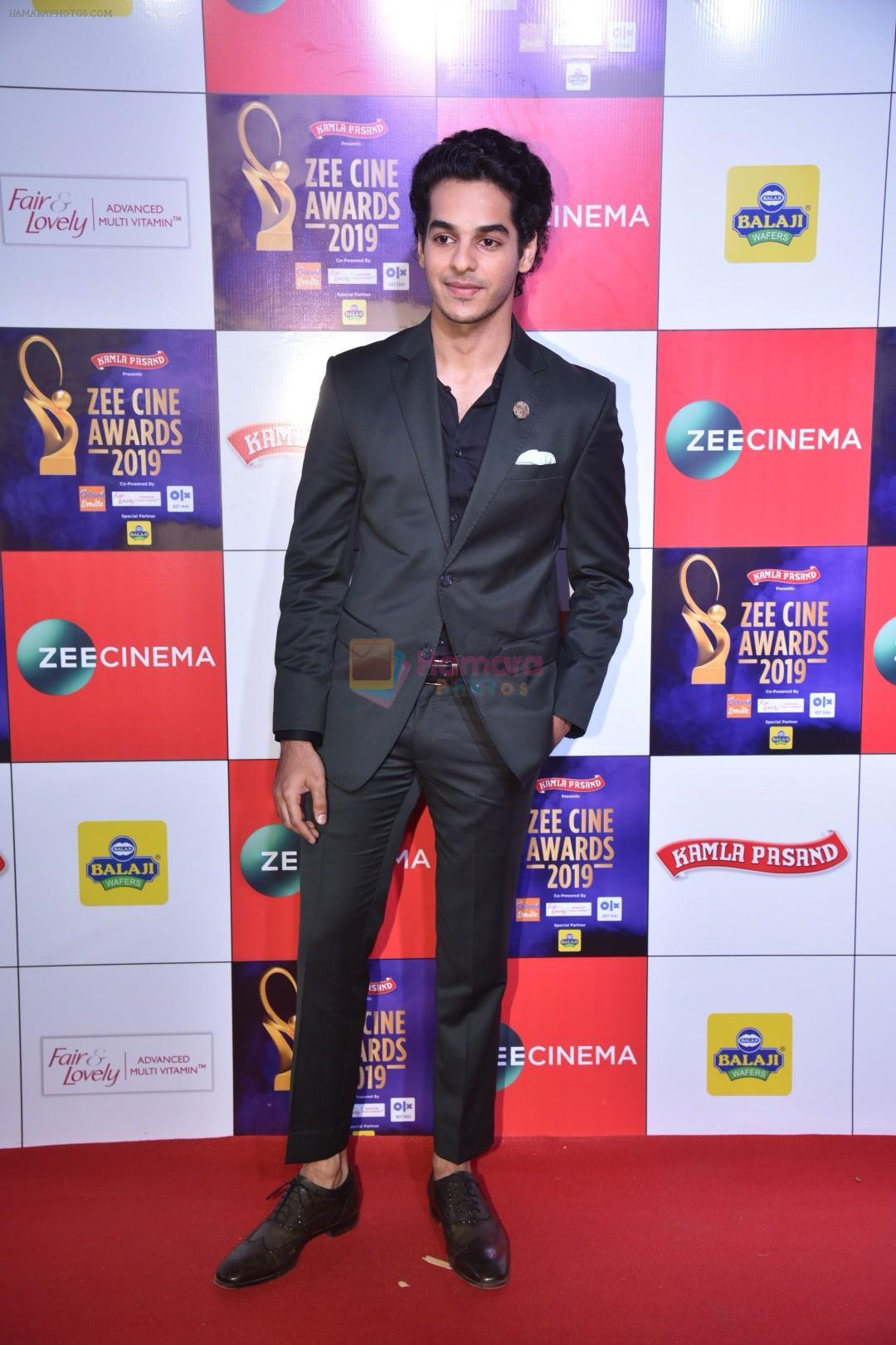 Ishaan Khattar at Zee cine awards red carpet on 19th March 2019