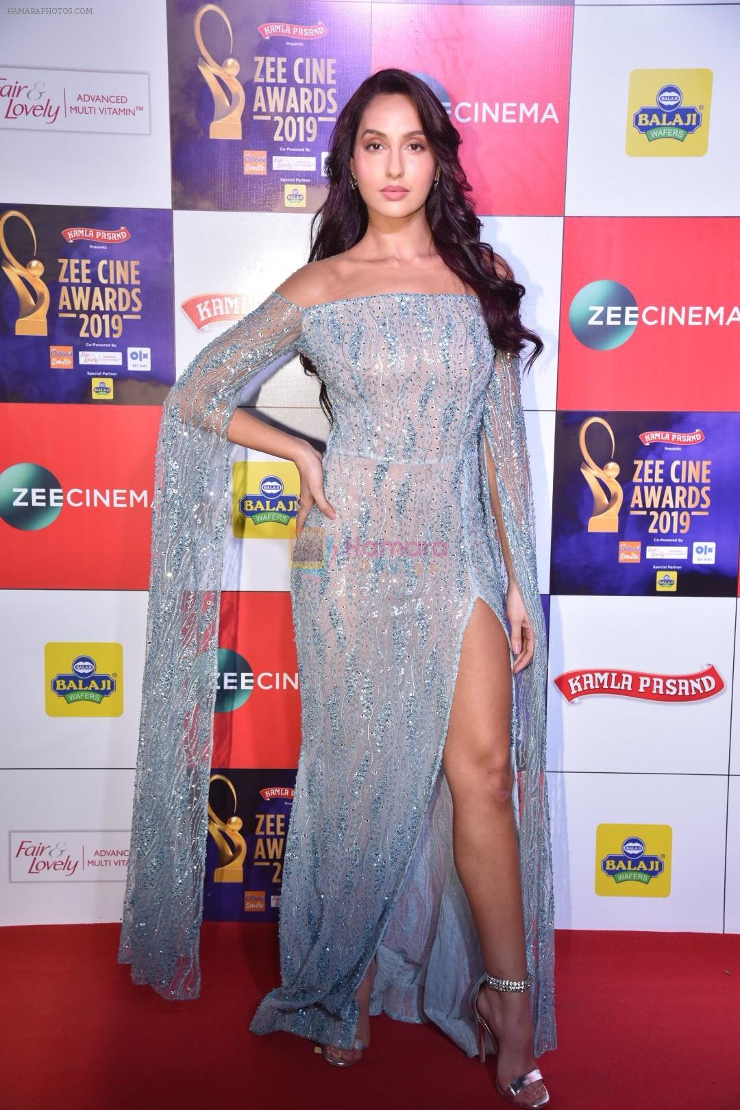 Nora Fatehi at Zee cine awards red carpet on 19th March 2019
