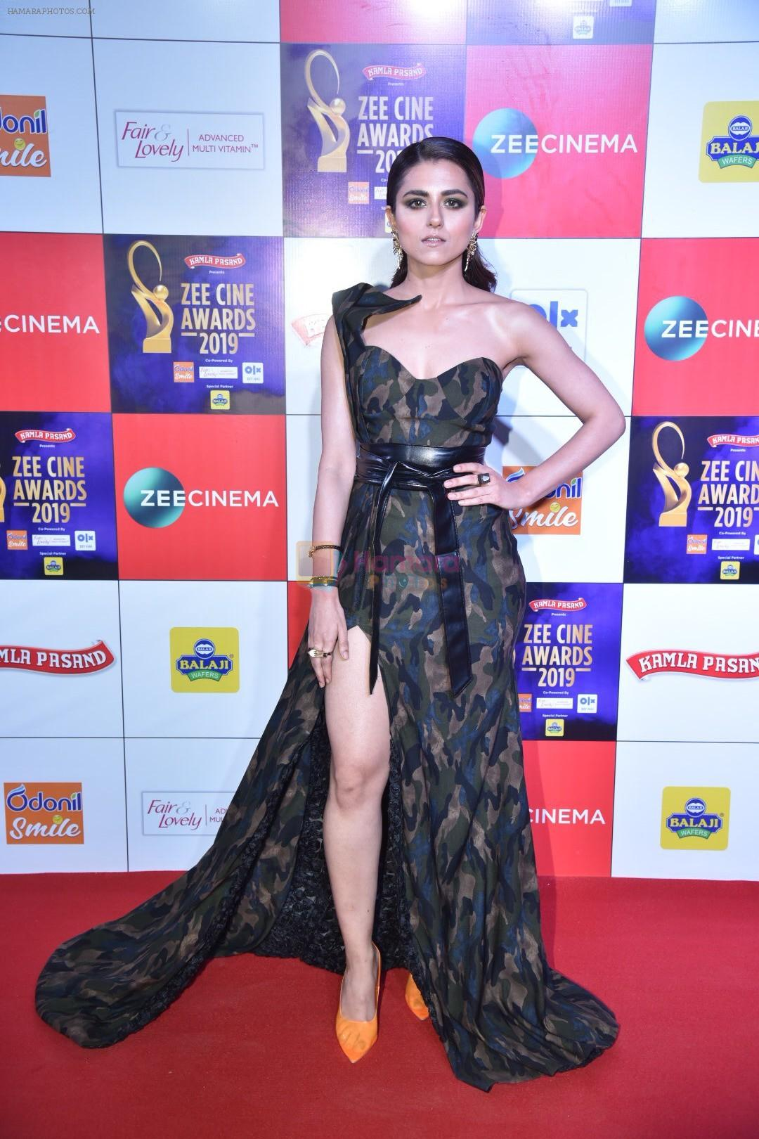 Riddhi Dogra at Zee cine awards red carpet on 19th March 2019