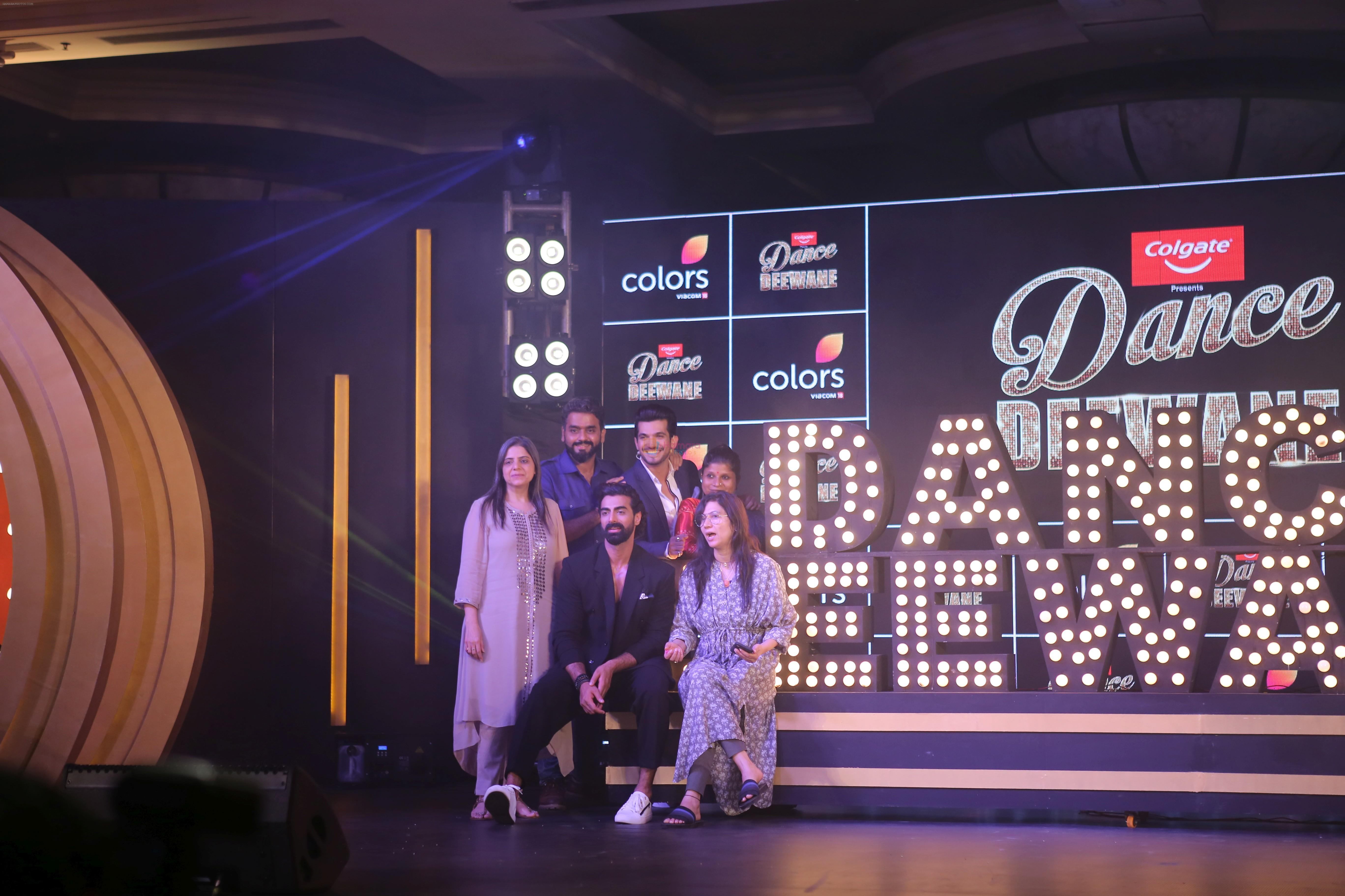 Madhuri Dixit, Shashank Khaitan & Tushar Kalia at the launch of colors show Dance Deewane at jw marriott juhu on 26th May 2019