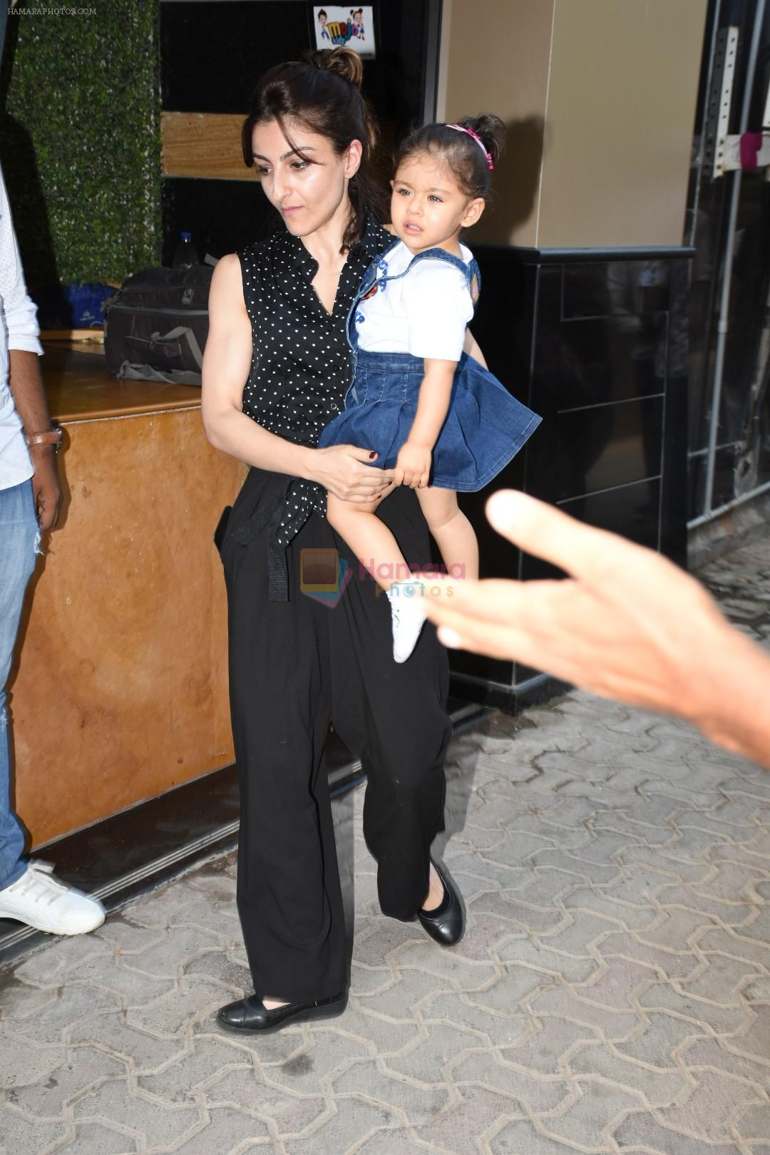 Soha Ali Khan at the Birthday celebration of Tusshar Kapoor's son Lakshya at bandra on 1st June 2019