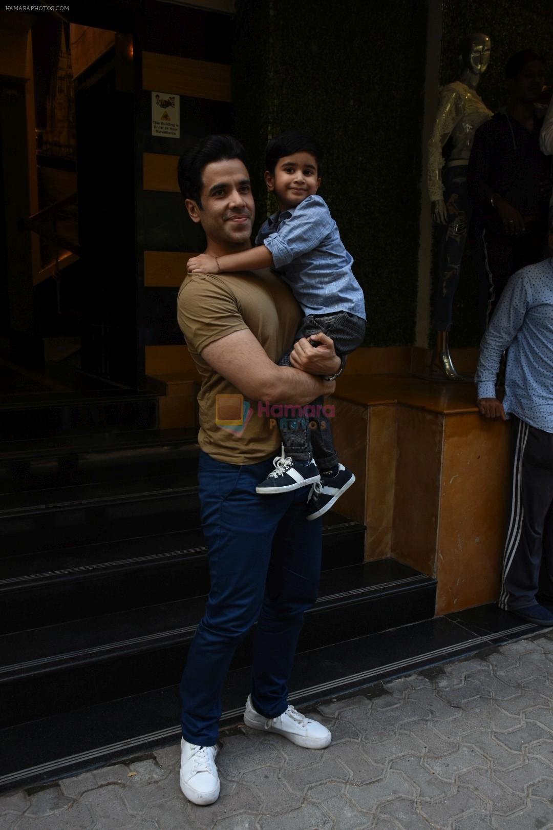 Tusshar Kapoor at the Birthday celebration of Tusshar Kapoor's son Lakshya at bandra on 1st June 2019