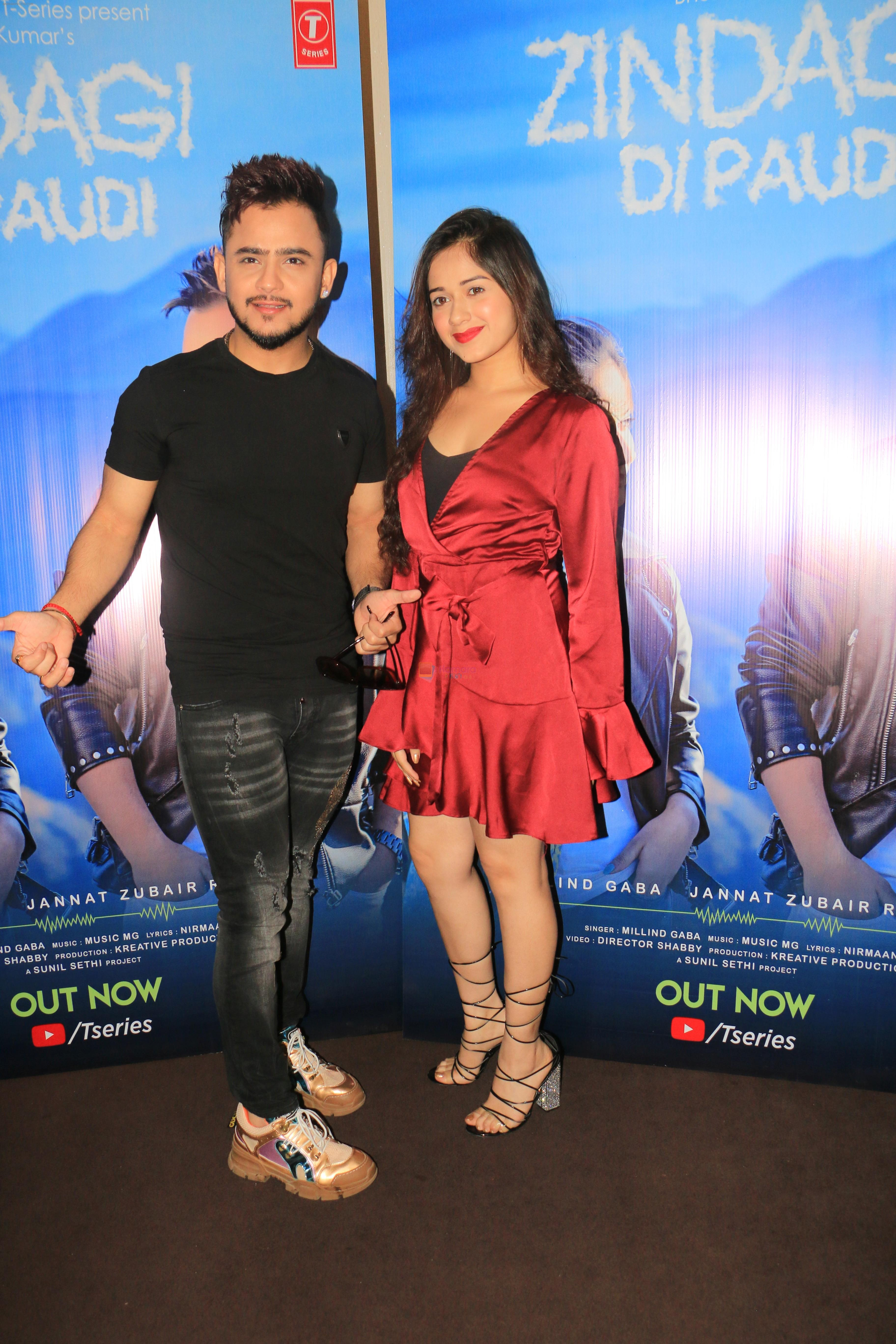 Millind Gaba, Jannat Zubair at Zindagi Di Paudi song launch at Hard Rock Cafe andheri on 6th June 2019