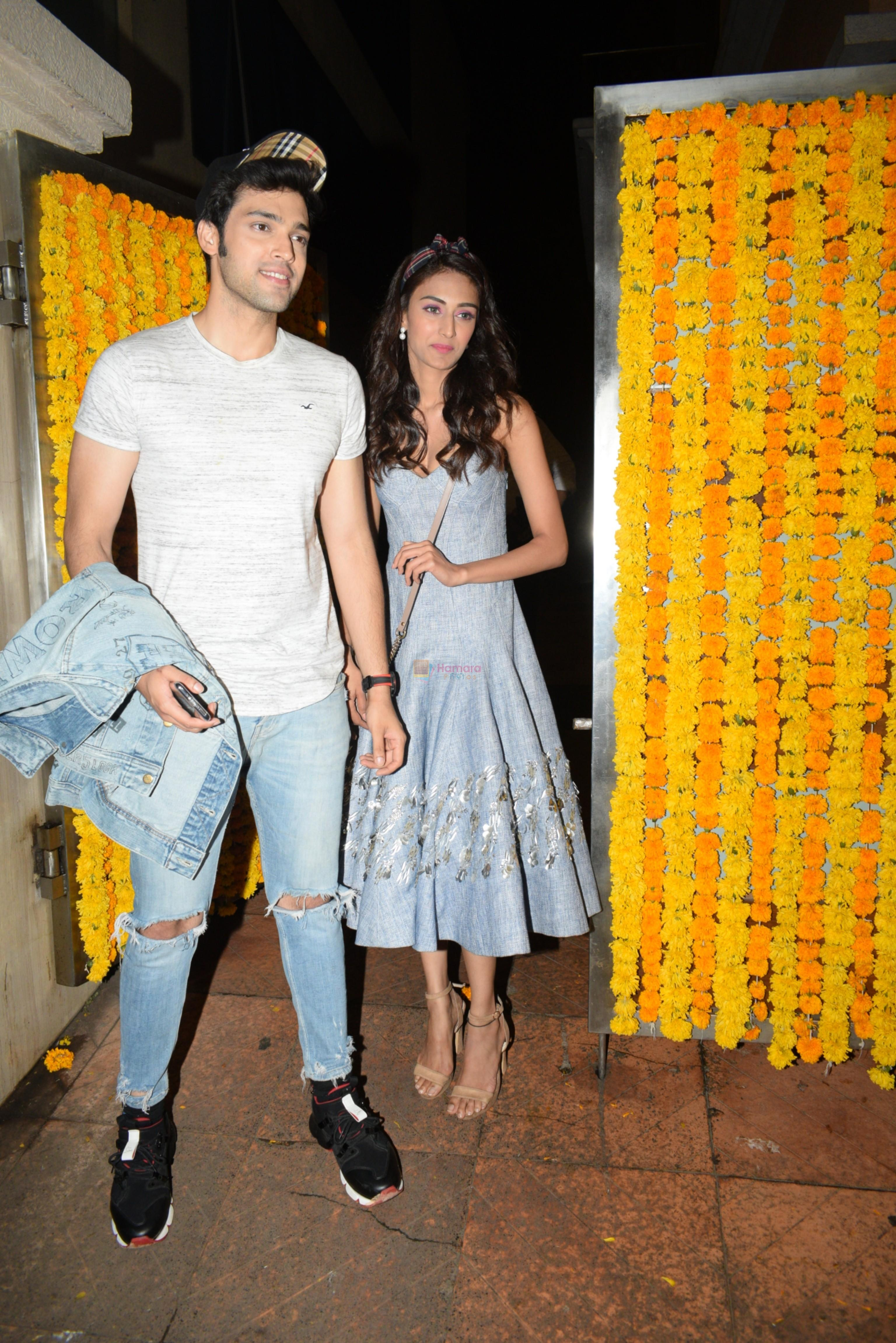 Parth Samthaan, Erica Fernandes at Ekta Kapoor's birthday party at her residence in juhu on 9th June 2019
