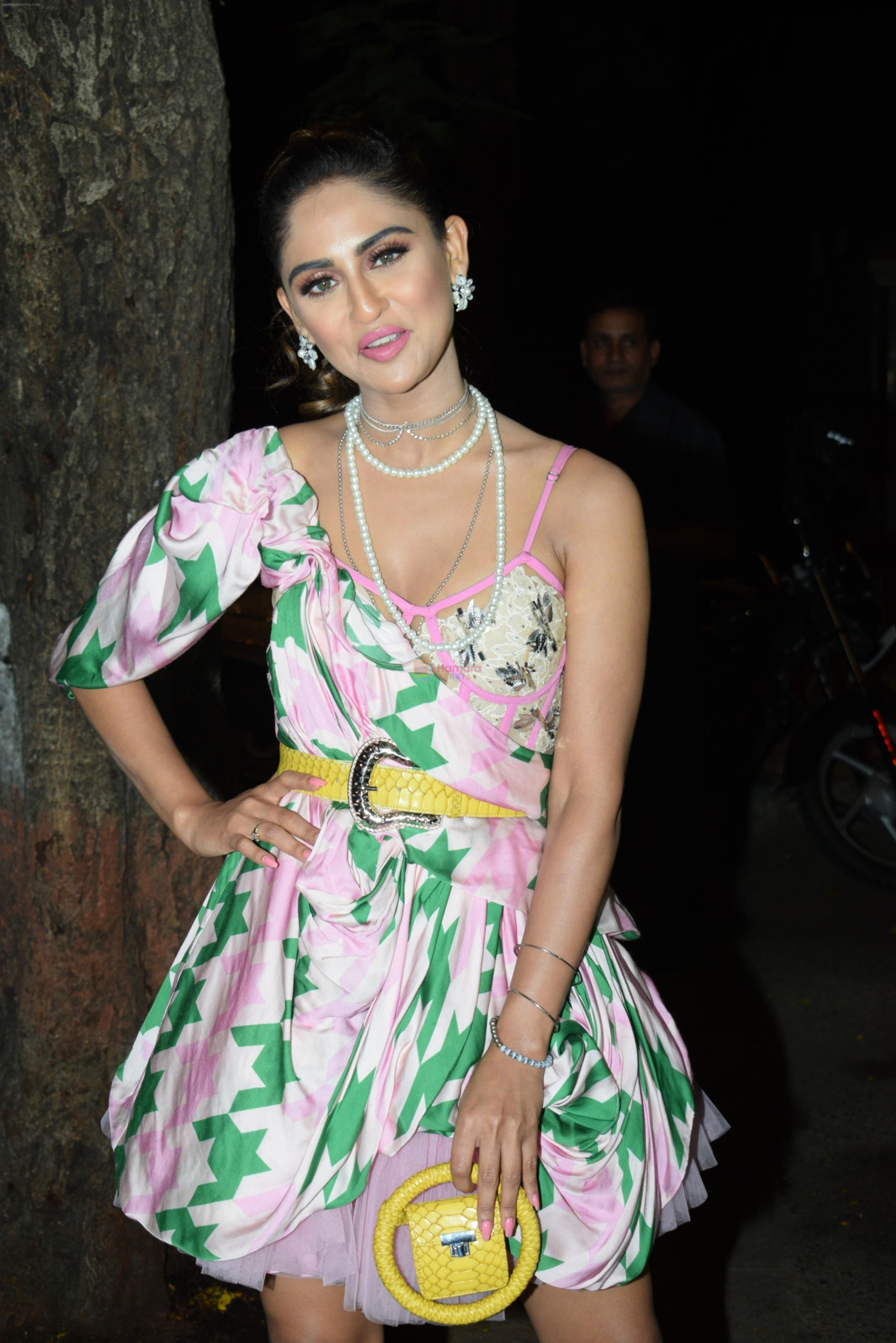 Krystal D Souza at Ekta Kapoor's birthday party at her residence in juhu on 9th June 2019