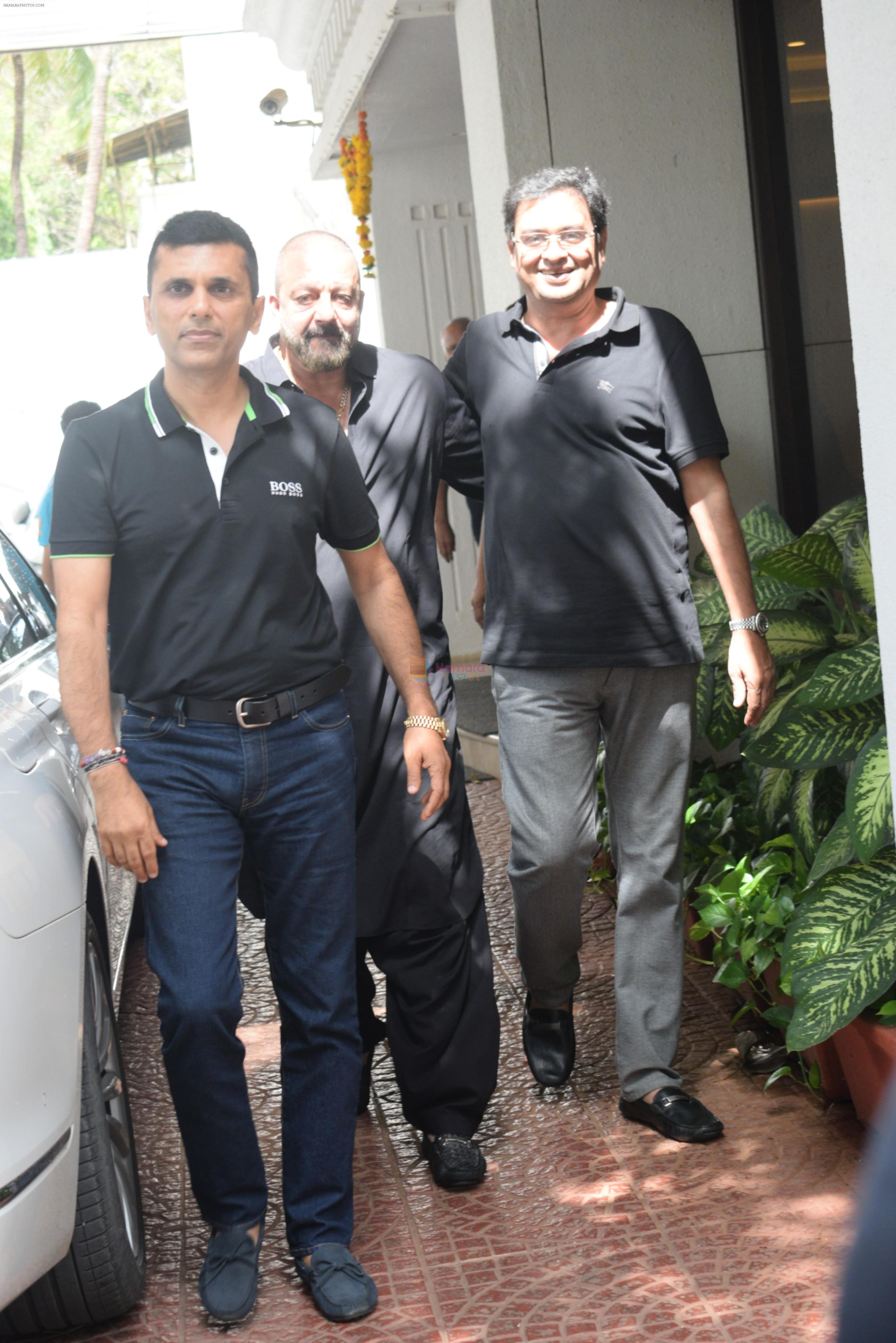 Sanjay Dutt spotted at Anand Pandit's house in juhu on 15th June 2019