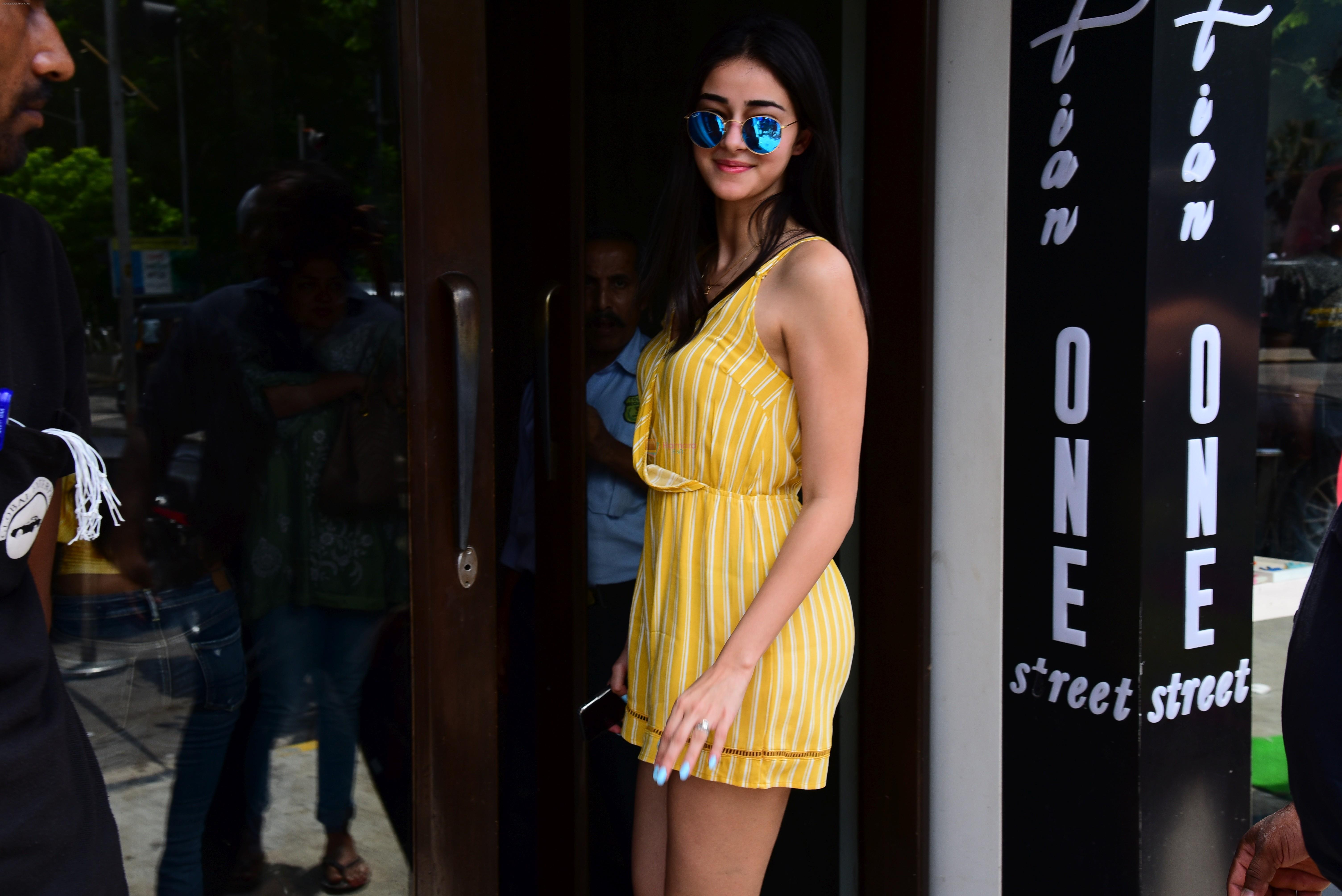 Ananya Pandey spotted at Bastian in bandra on 16th June 2019