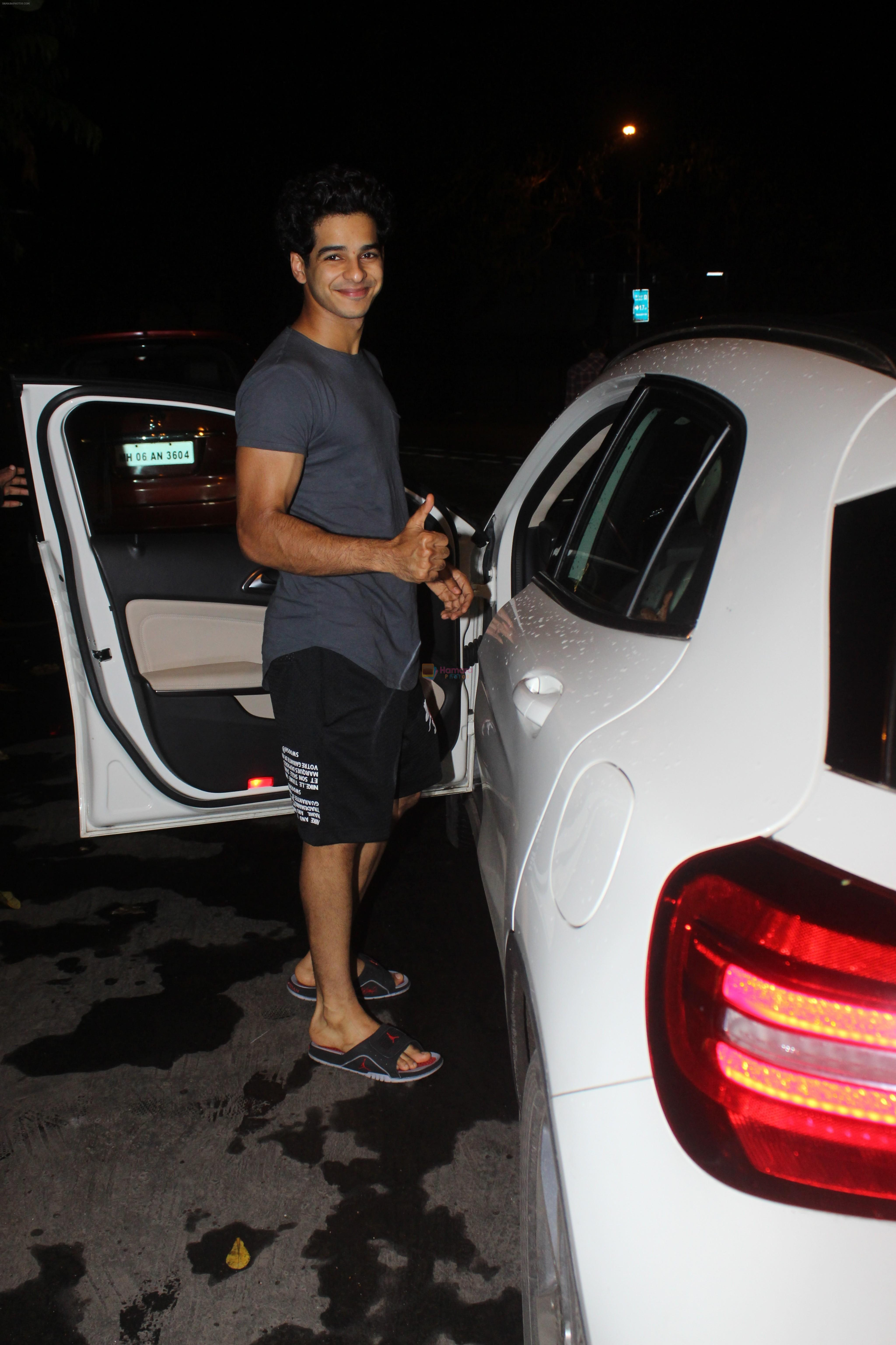 Ishaan Khattar spotted at Myrah spa in juhu on 18th June 2019