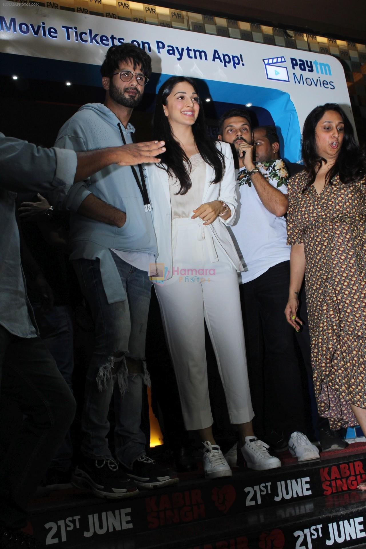 Kiara Advani,Shahid Kapoor at Kabir Singh screening in pvr icon, andheri on 20th June 2019