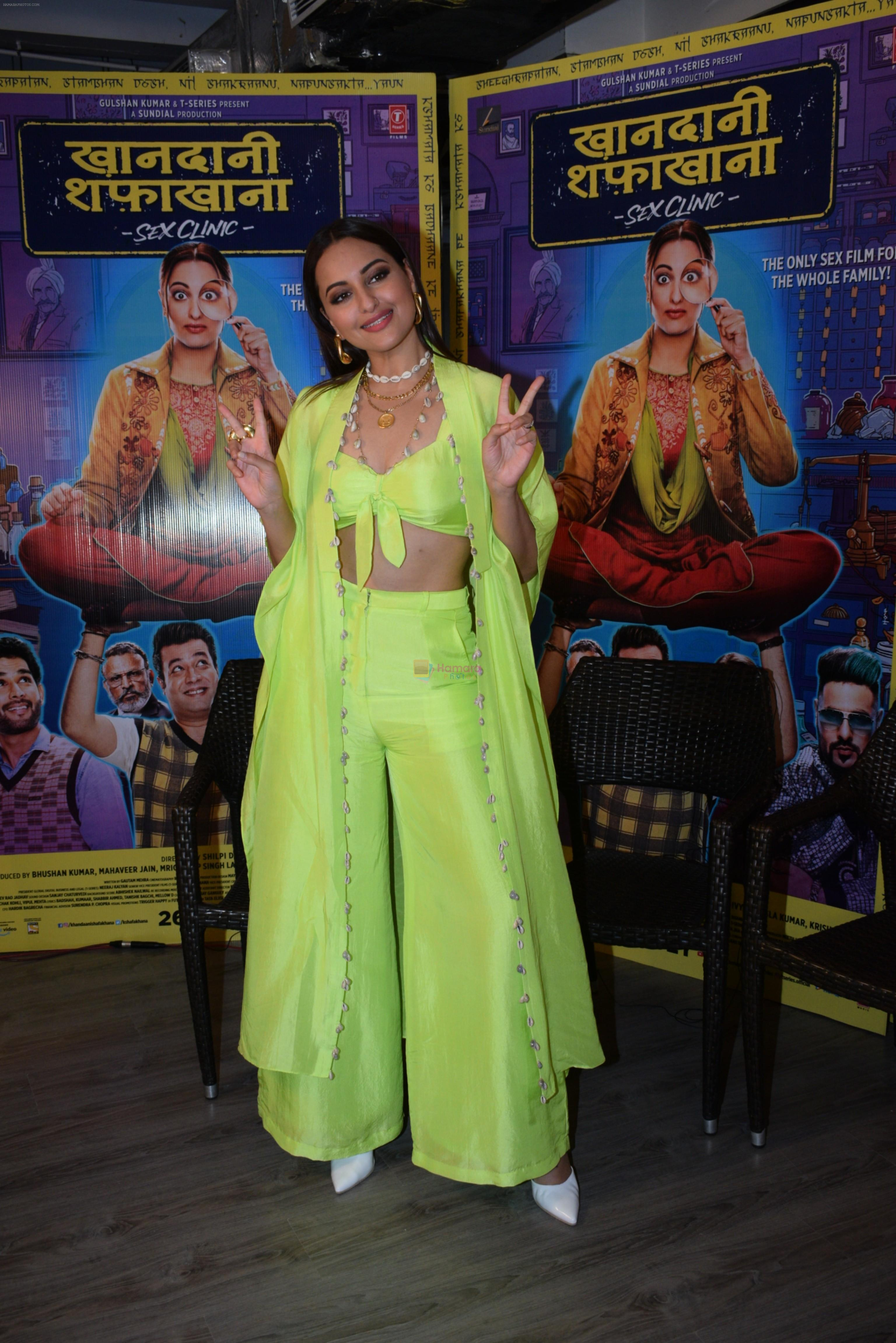 Sonakshi Sinha for the promotions of film Khandaani Shafakhana at Tseries office in andheri on 21st June 2019