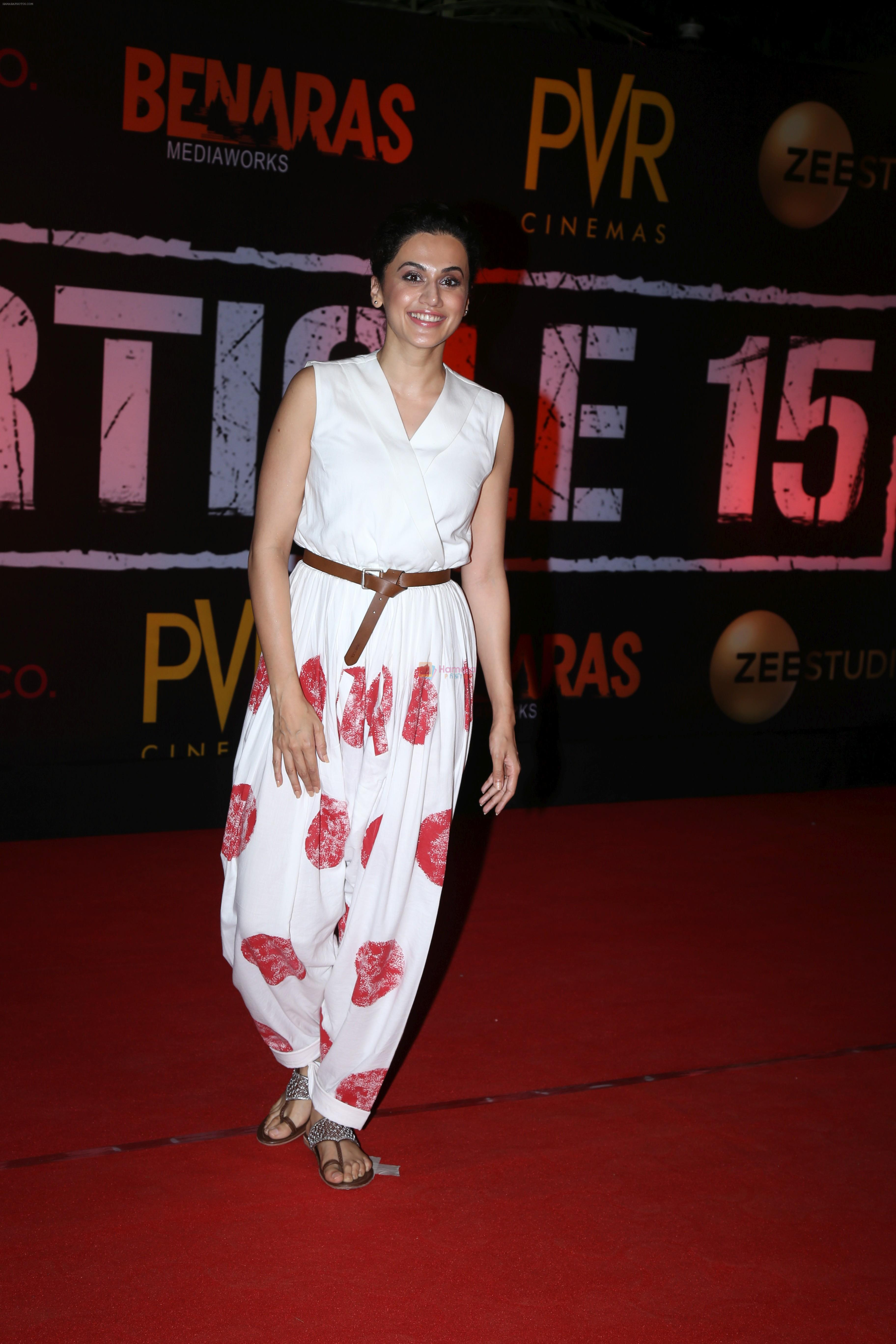 Taapsee Pannu at the Screening of film Article 15 in pvr icon, andheri on 26th June 2019