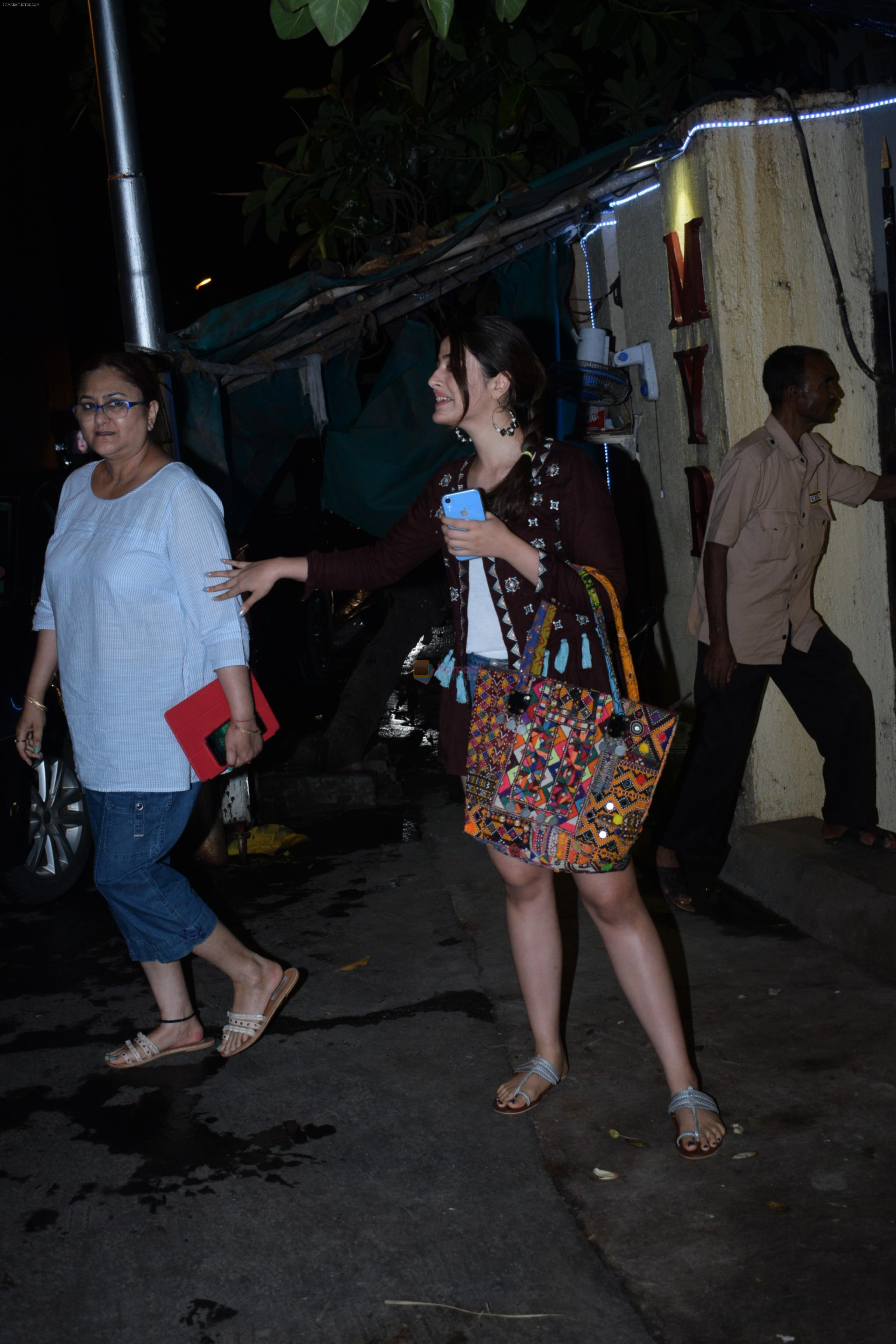 Nupur Sanon spotted at Myrah spa in juhu on 30th June 2019