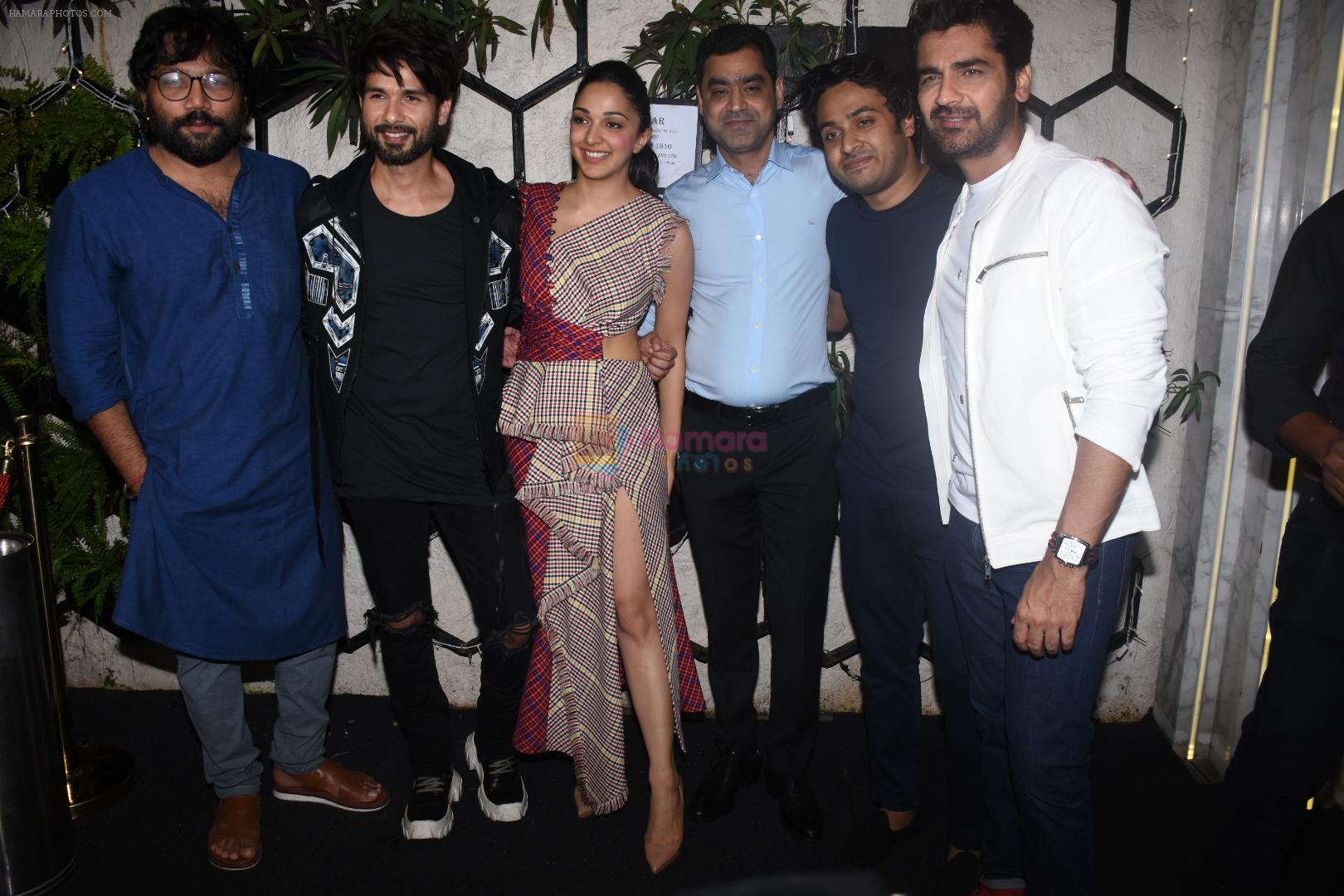 Kiara Advani, Shahid Kapoor, Sandeep Reddy Vanga, Arjan Bajwa at the Success party of Kabir Singh in Arth, khar on 4th July 2019