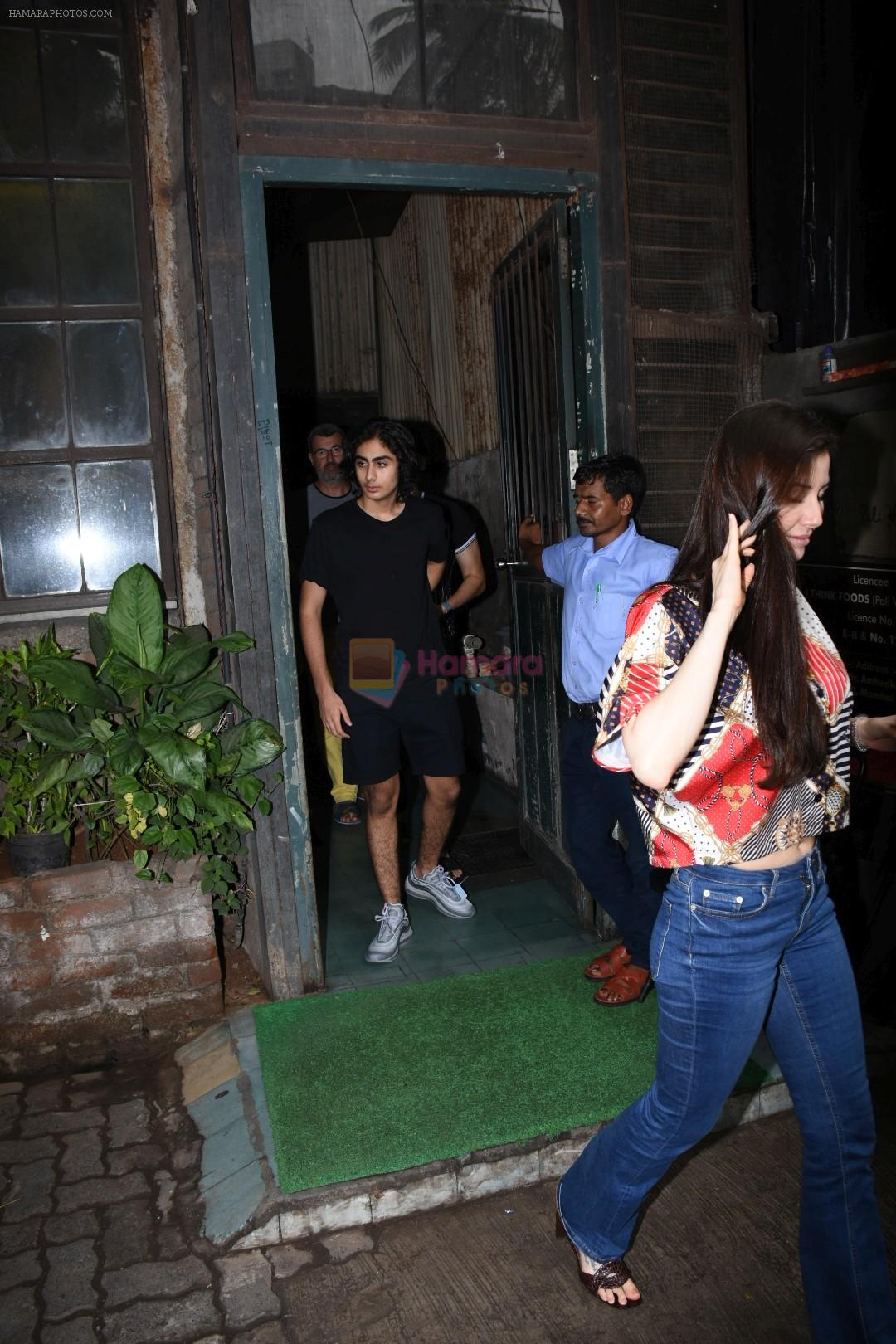 Arbaaz Khan, Arhan Khan & Georgia Andriani spotted at palli village cafe bandra on 7th July 2019