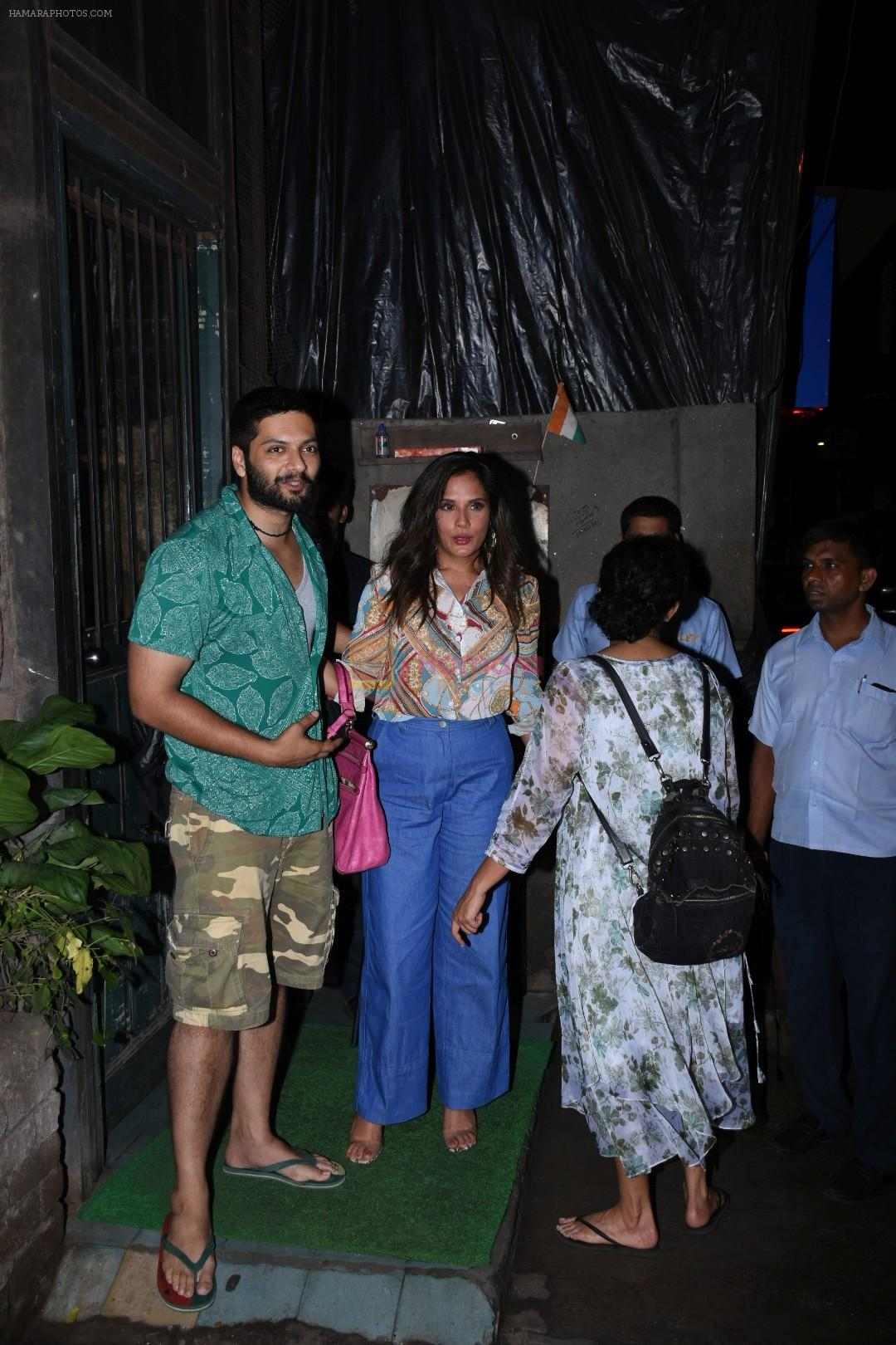 Richa Chadda, Ali Fazal spotted at pali village cafe in bandra on 7th July 2019