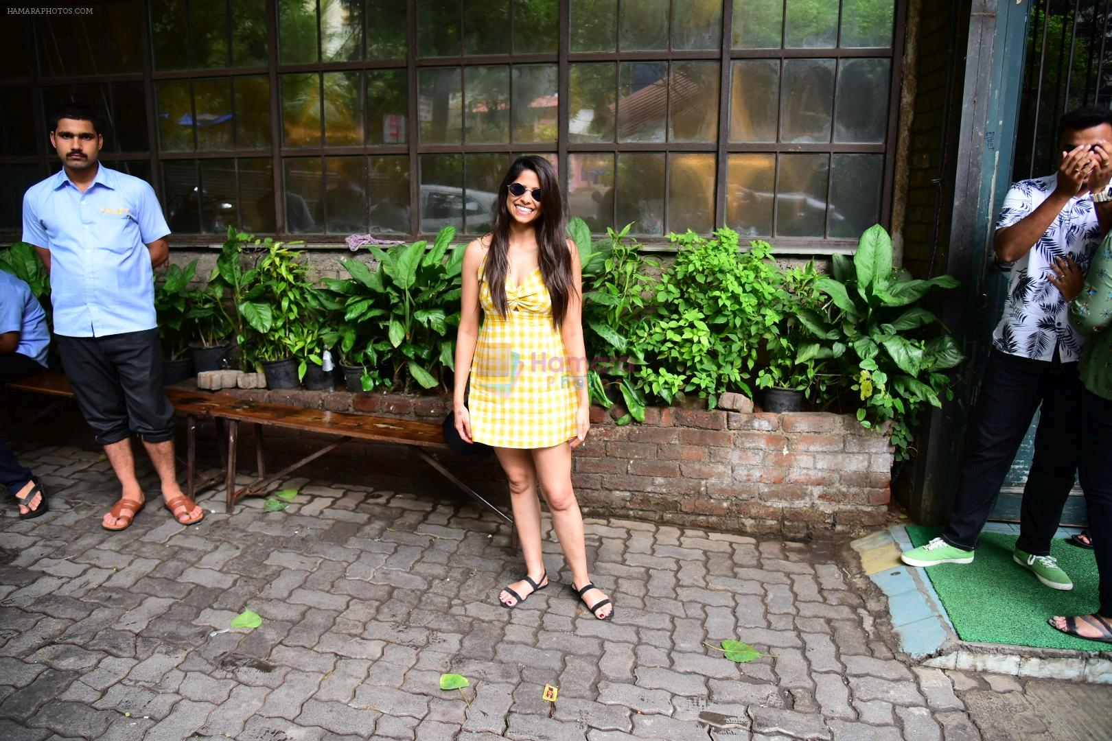 Sai Tamhankar spotted at pali village cafe bandra on 7th July 2019