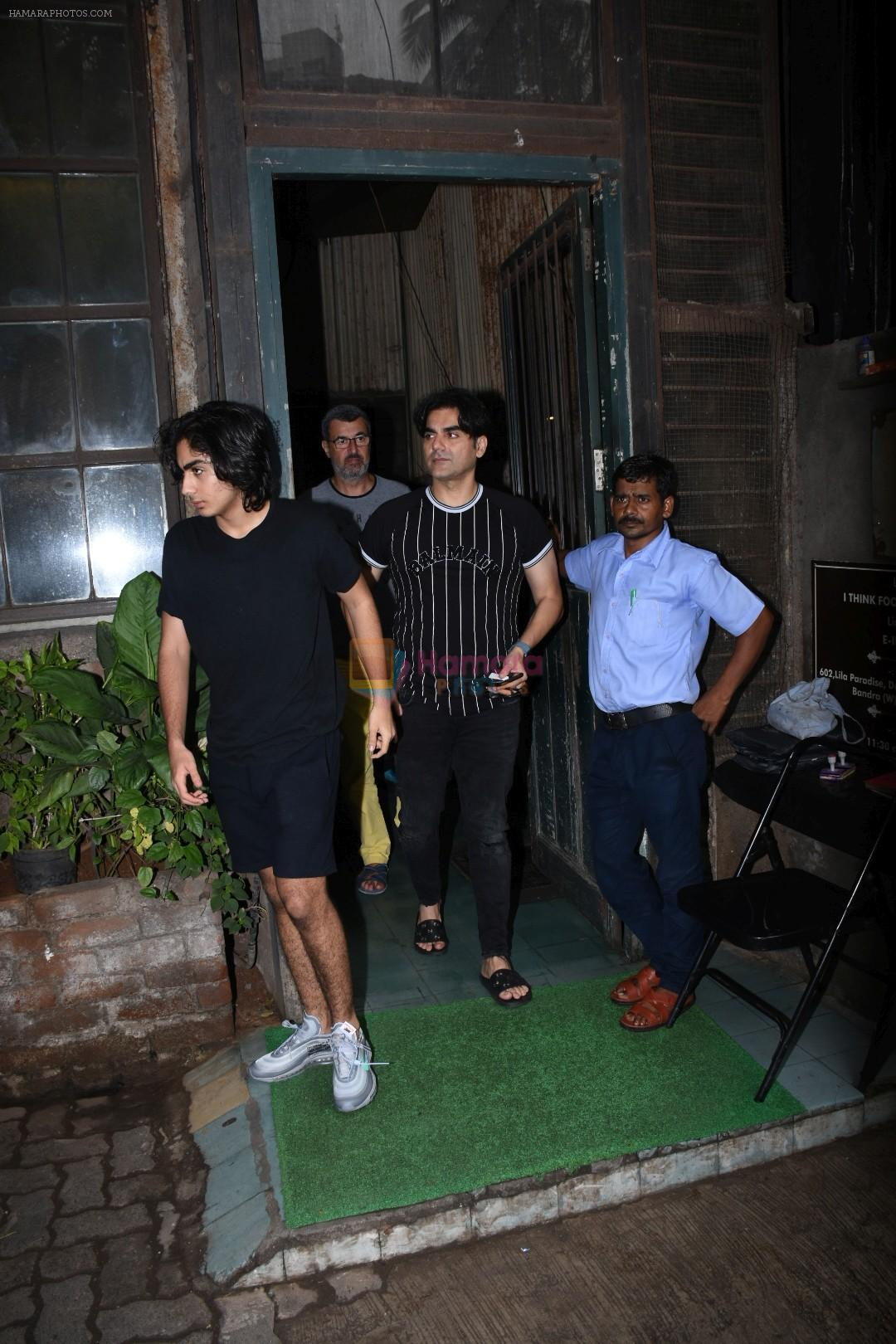 Arbaaz Khan, Arhan Khan spotted at palli village cafe bandra on 7th July 2019