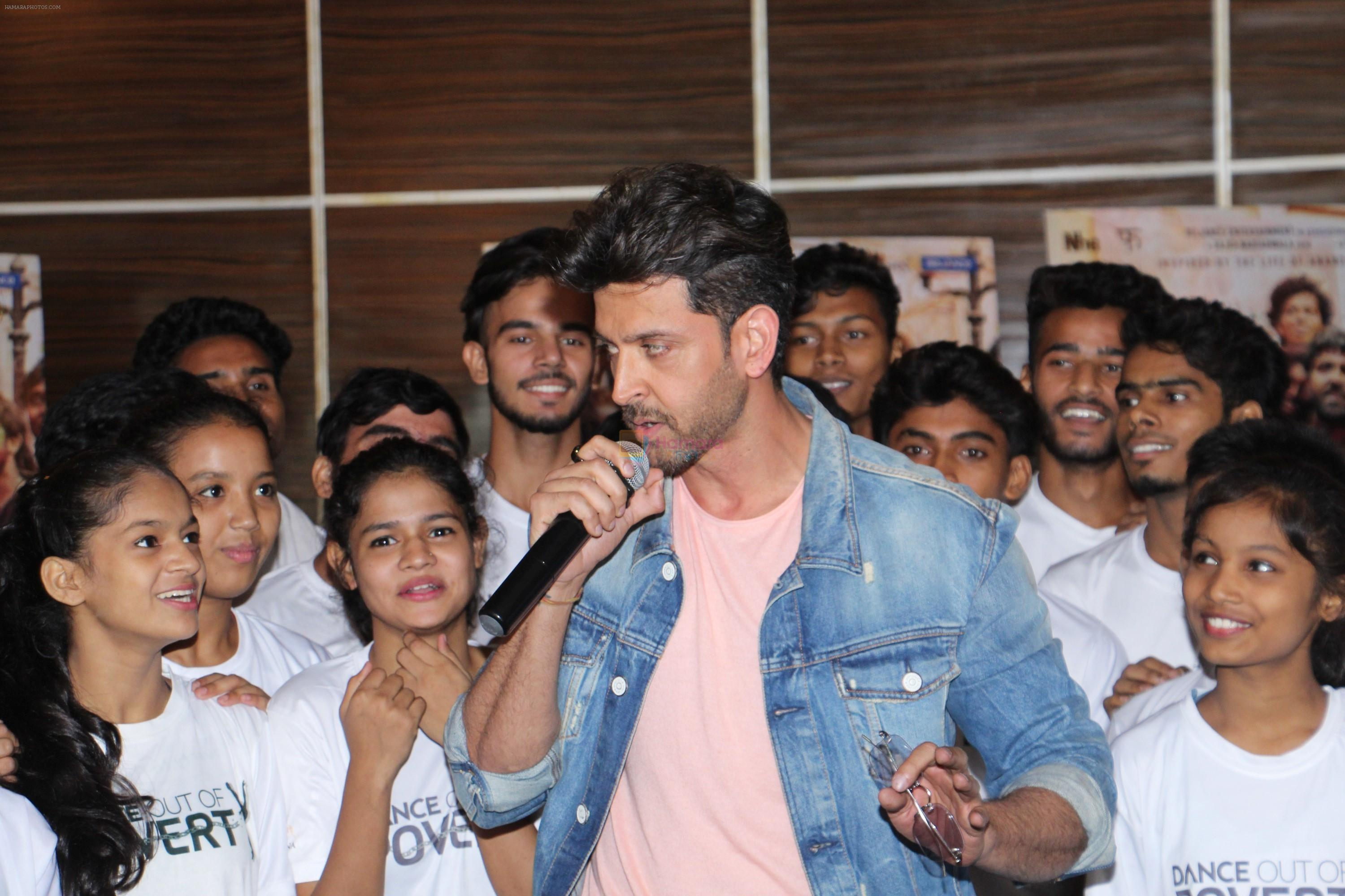 Hrithik Roshan at the promotion of film super 30 and dances with underprivileged kids from NGO Dance out of poverty on 9th July 2019