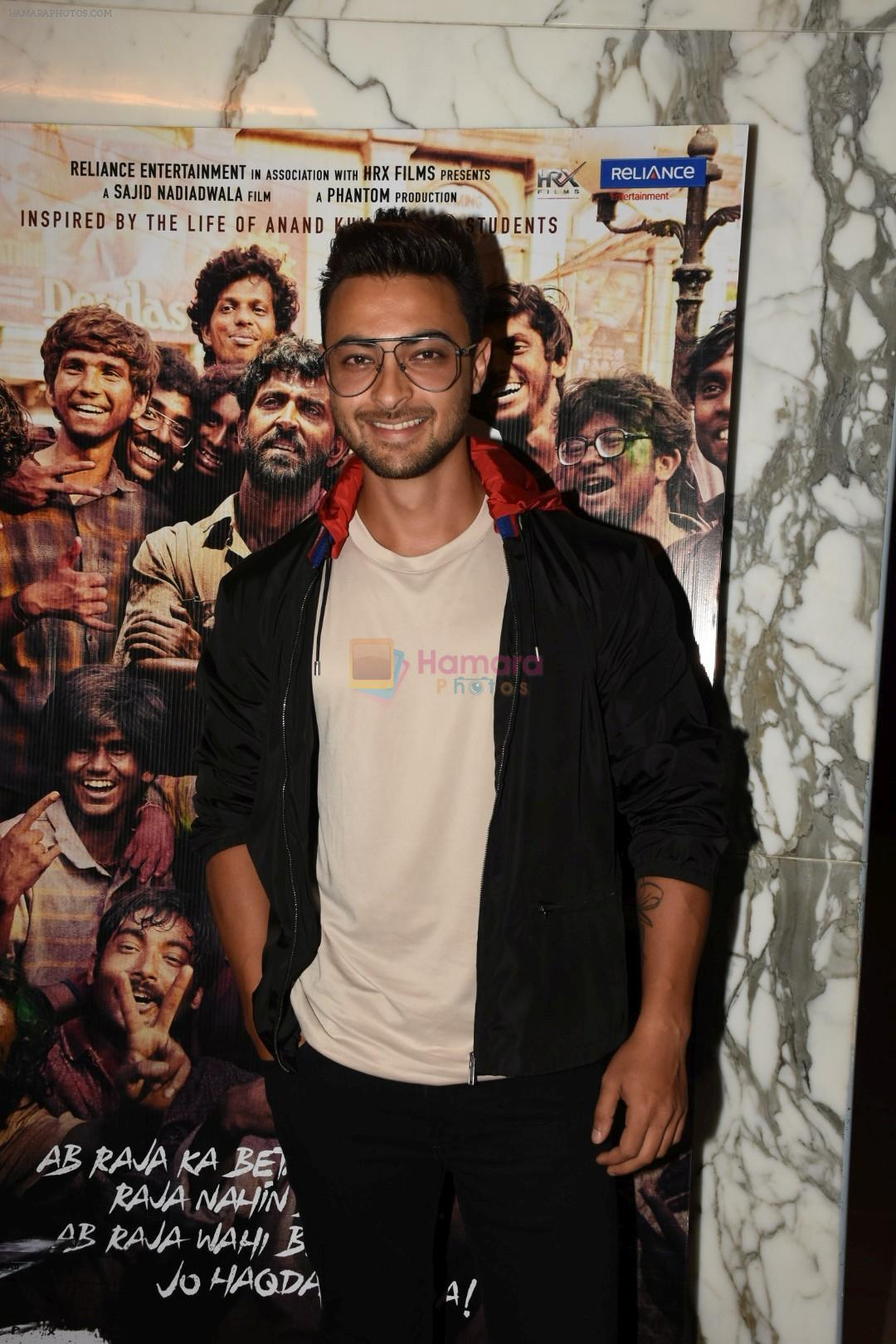 Aayush Sharma at the Screening of film Super 30 in Yashraj studios, Andheri on 10th July 2019