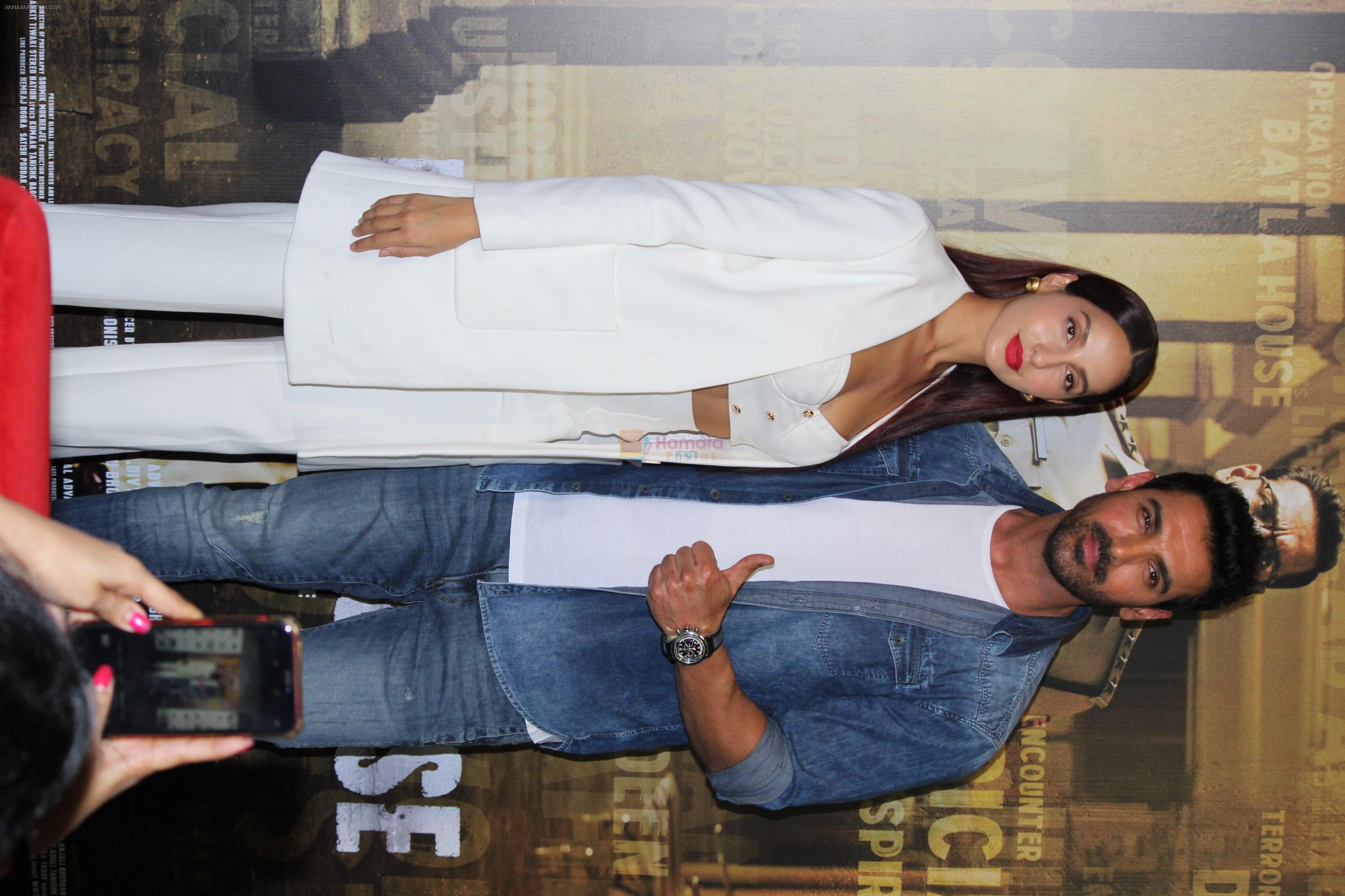 John Abraham, Nora Fatehi at the Trailer Launch Of Film Batla House on 10th July 2019