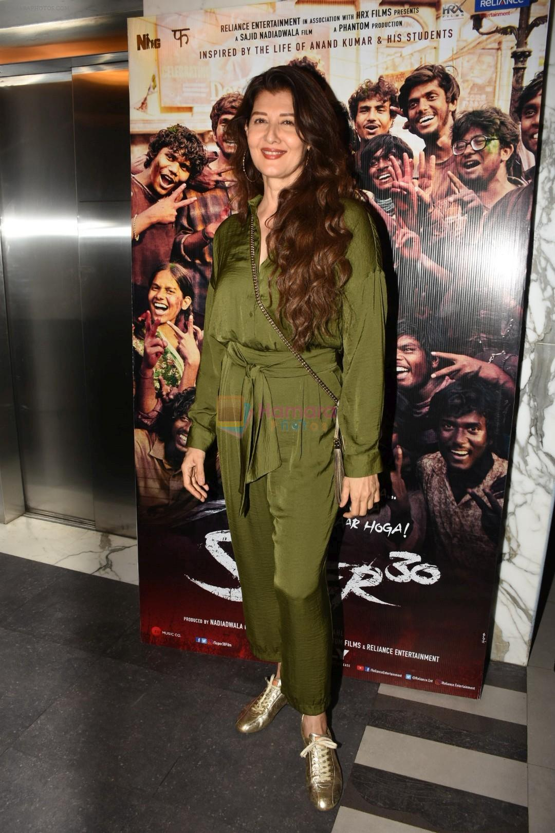 Sangeeta Bijlani at the Screening of film Super 30 in Yashraj studios, Andheri on 10th July 2019