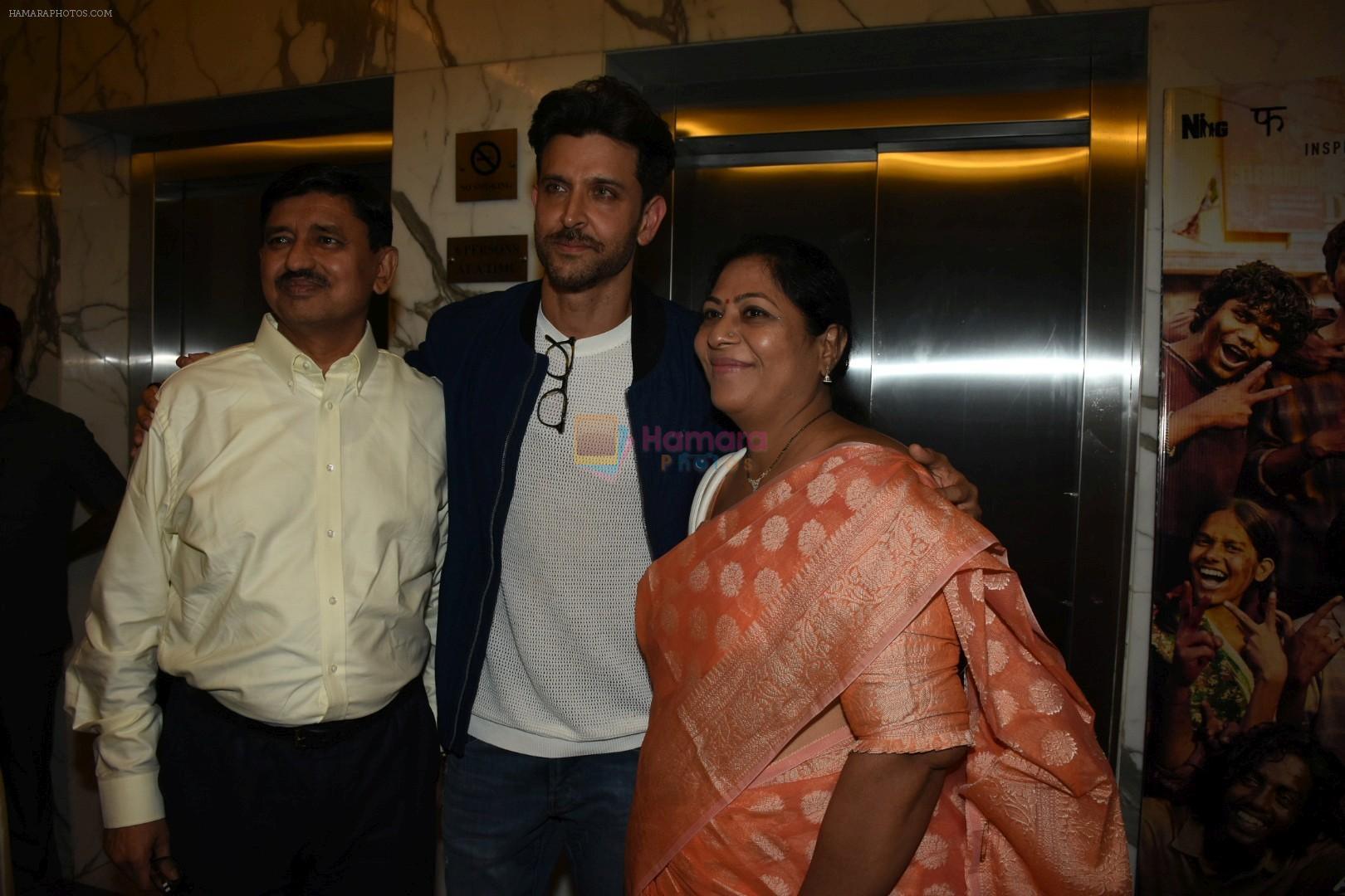 Hrithik Roshan, Mrunal Thakur at the Screening of film Super 30 in Yashraj studios, Andheri on 10th July 2019